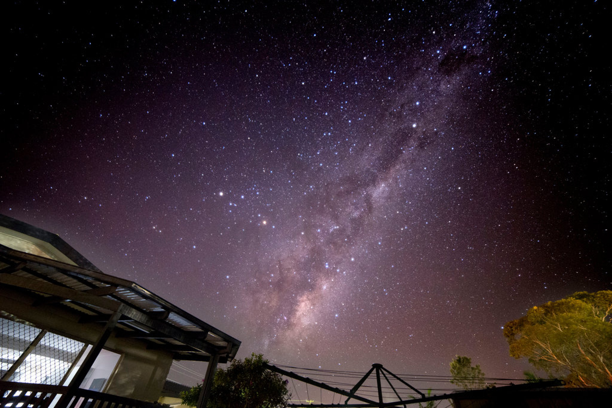 Backyard at Burril Lake NSW Milky Way  by Graham Levi