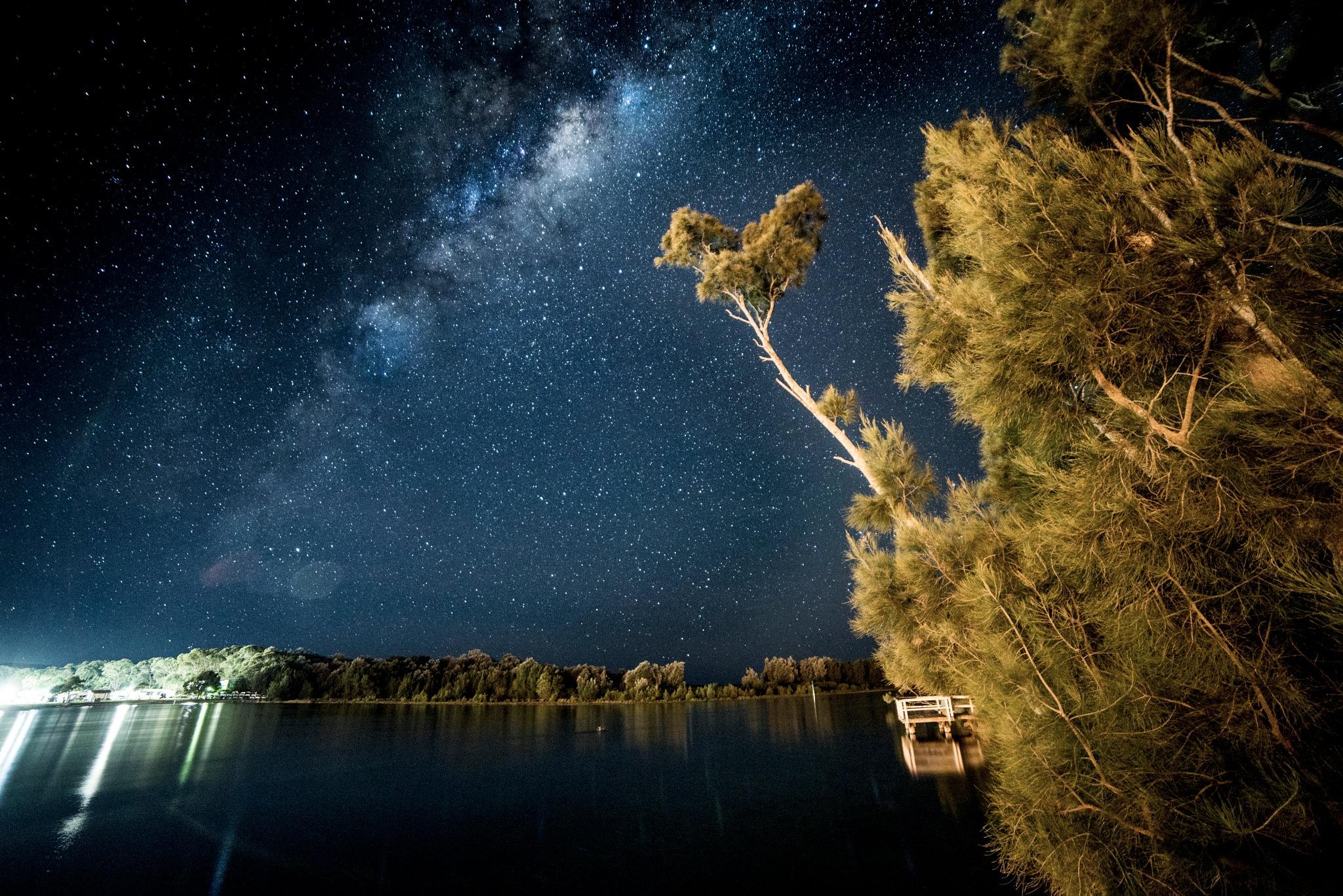 Burrill Lake and Stars by Graham Levi