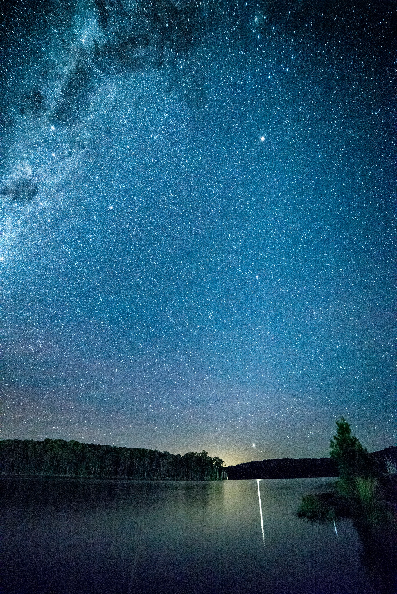 Stars Over Burrill Lake Australia by Graham Levi