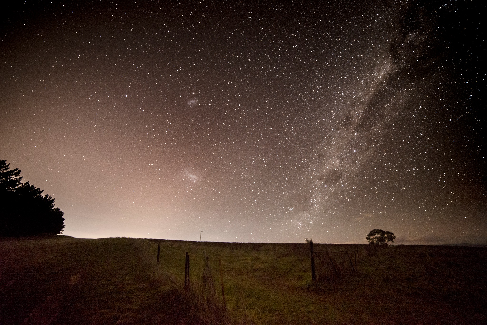 Aussie Country Road with Magellanic Clouds by Graham Levi