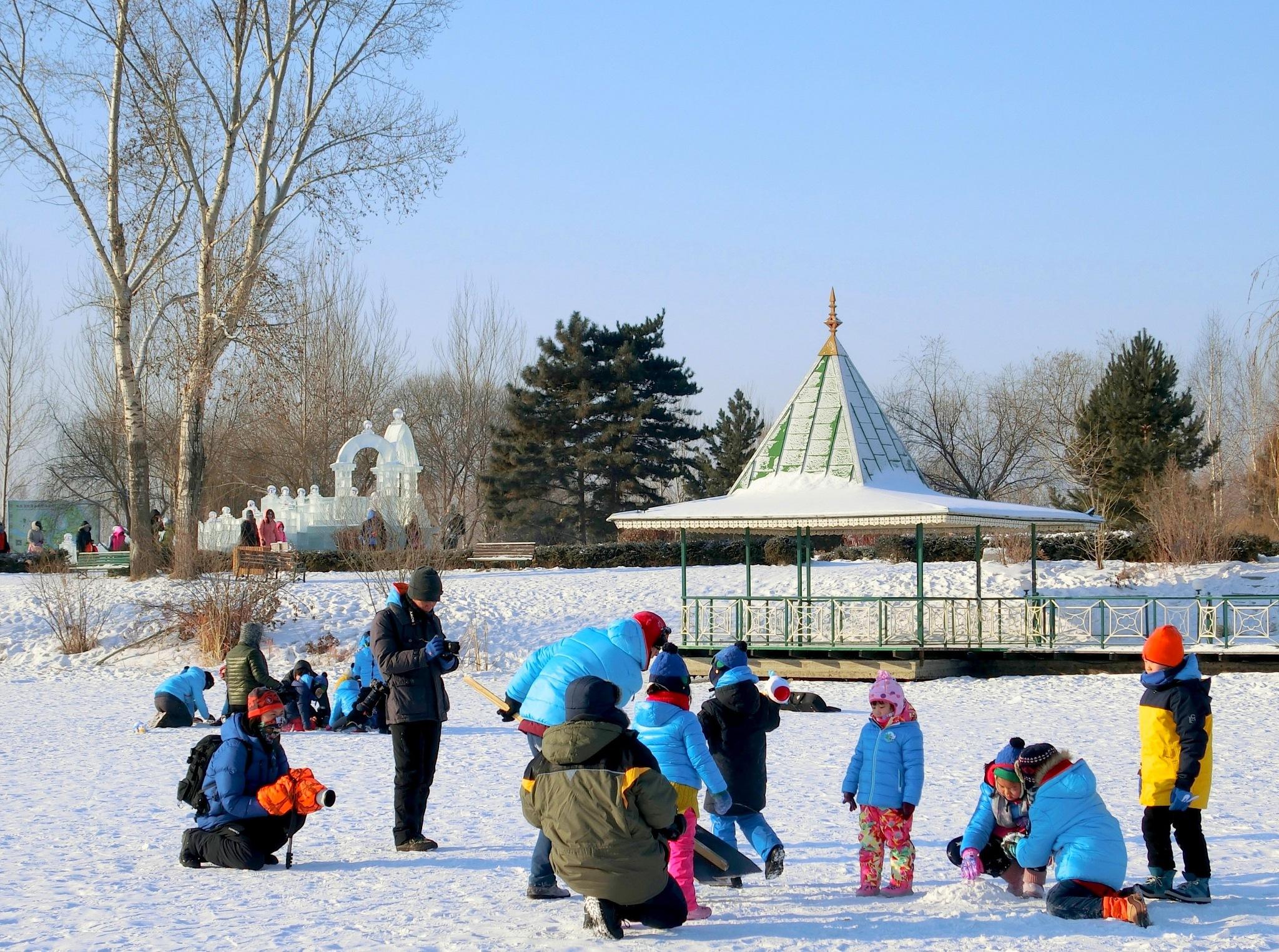 Children at Volga Manor, Harbin. by pop88123