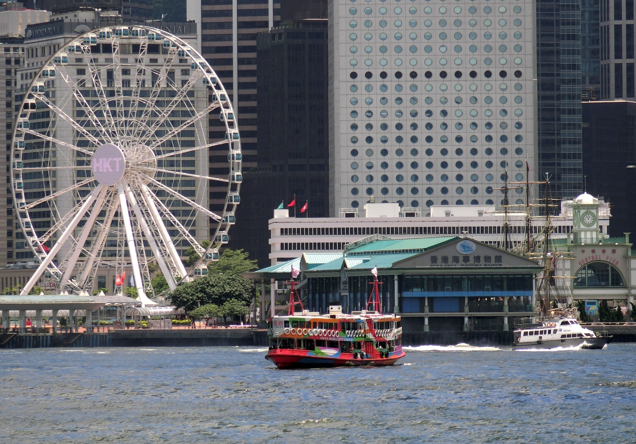 Star ferry in Hong Kong Harbour by pop88123