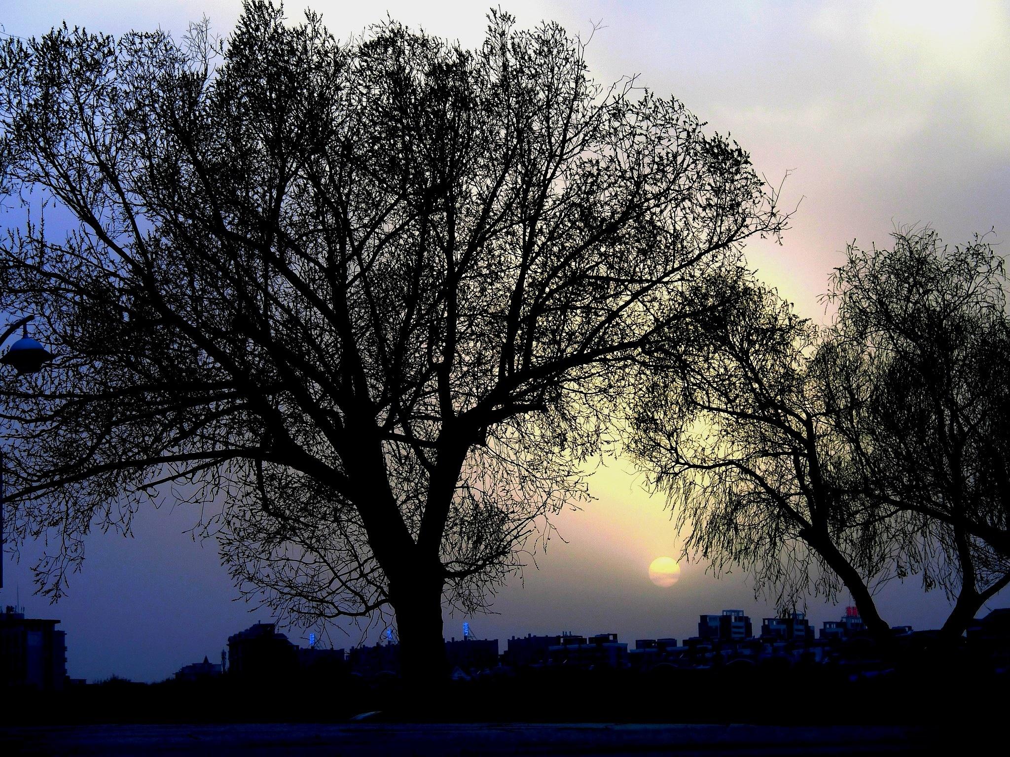 Sunset at Jilin, NE China by pop88123