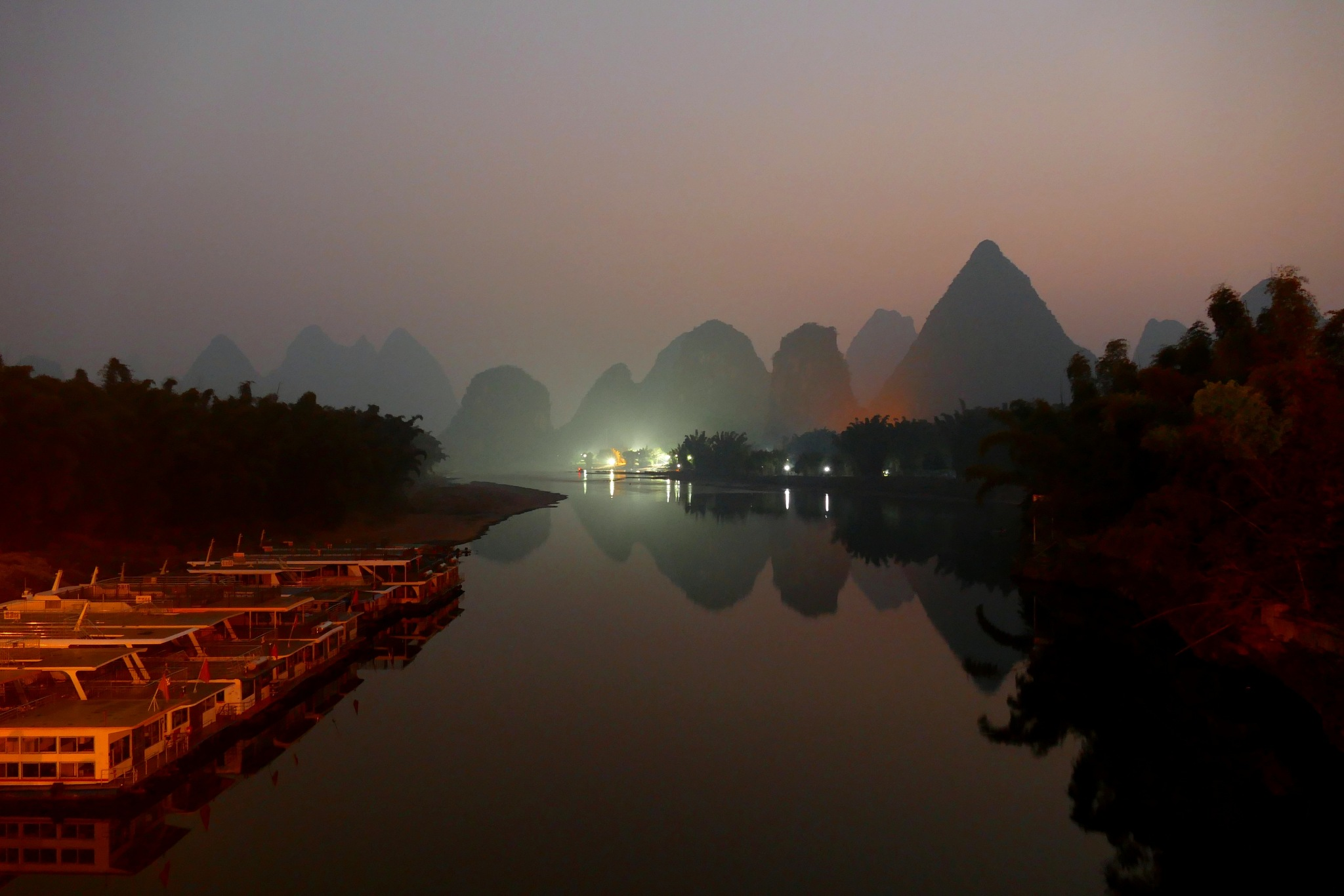 Li River, just before dawn by pop88123