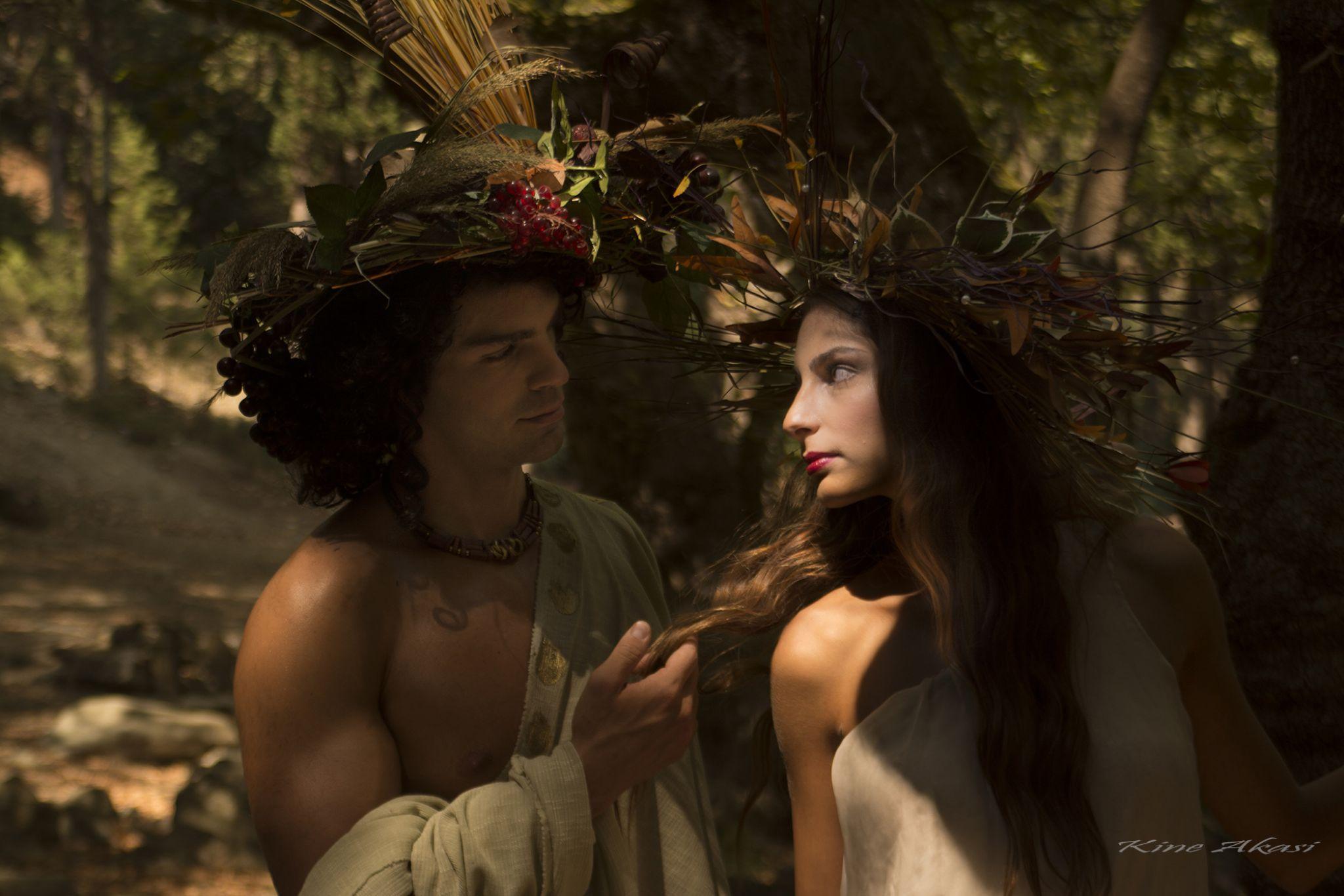 Dionysus and Naiad by KineAkasi
