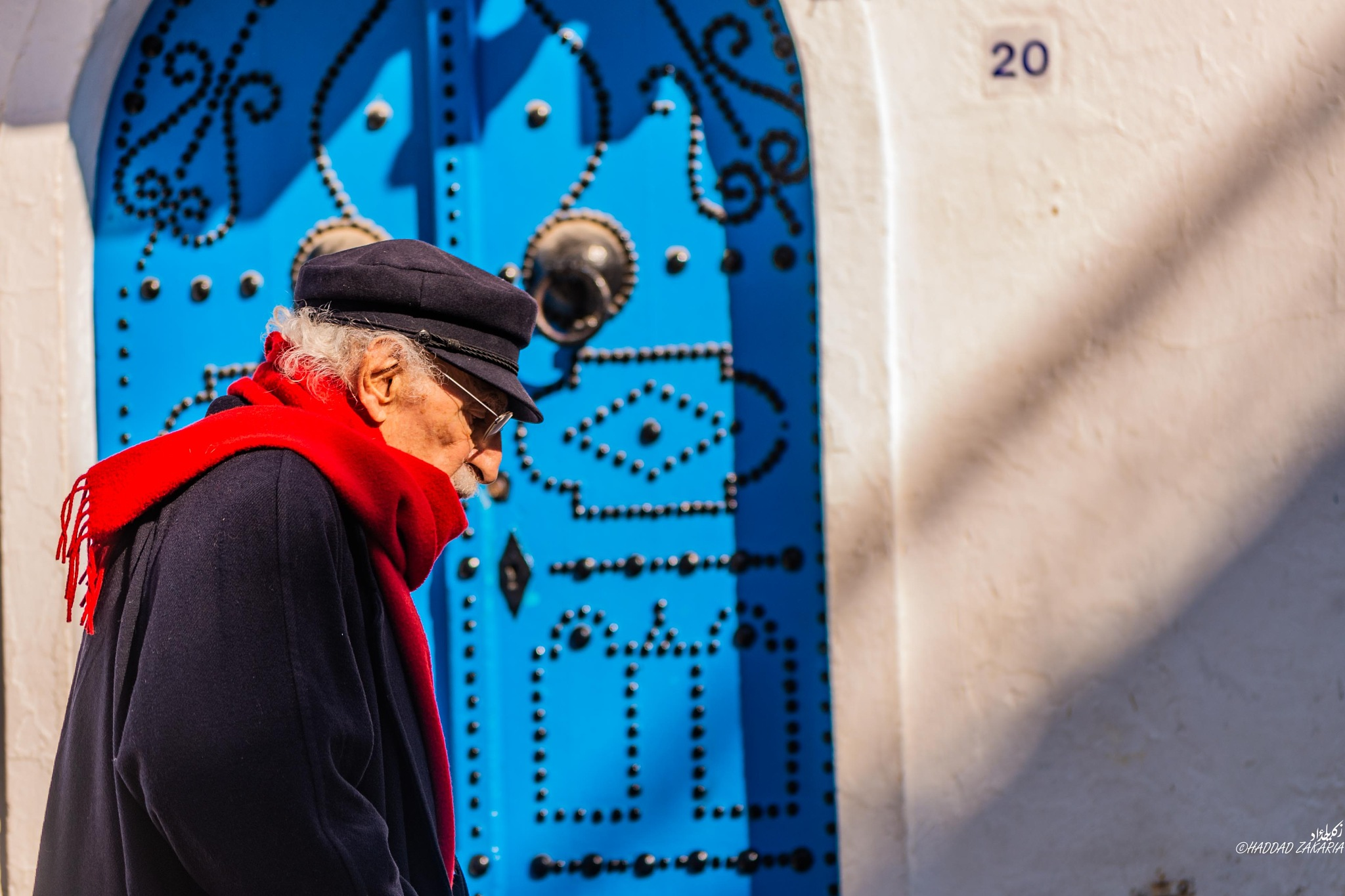 The red scarf by Zakaria Haddad