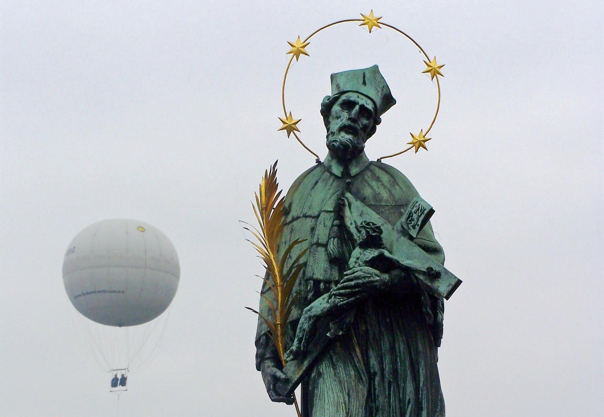 Photo in Travel #prague #places #travel #statue #balloon #sculpture #tourism