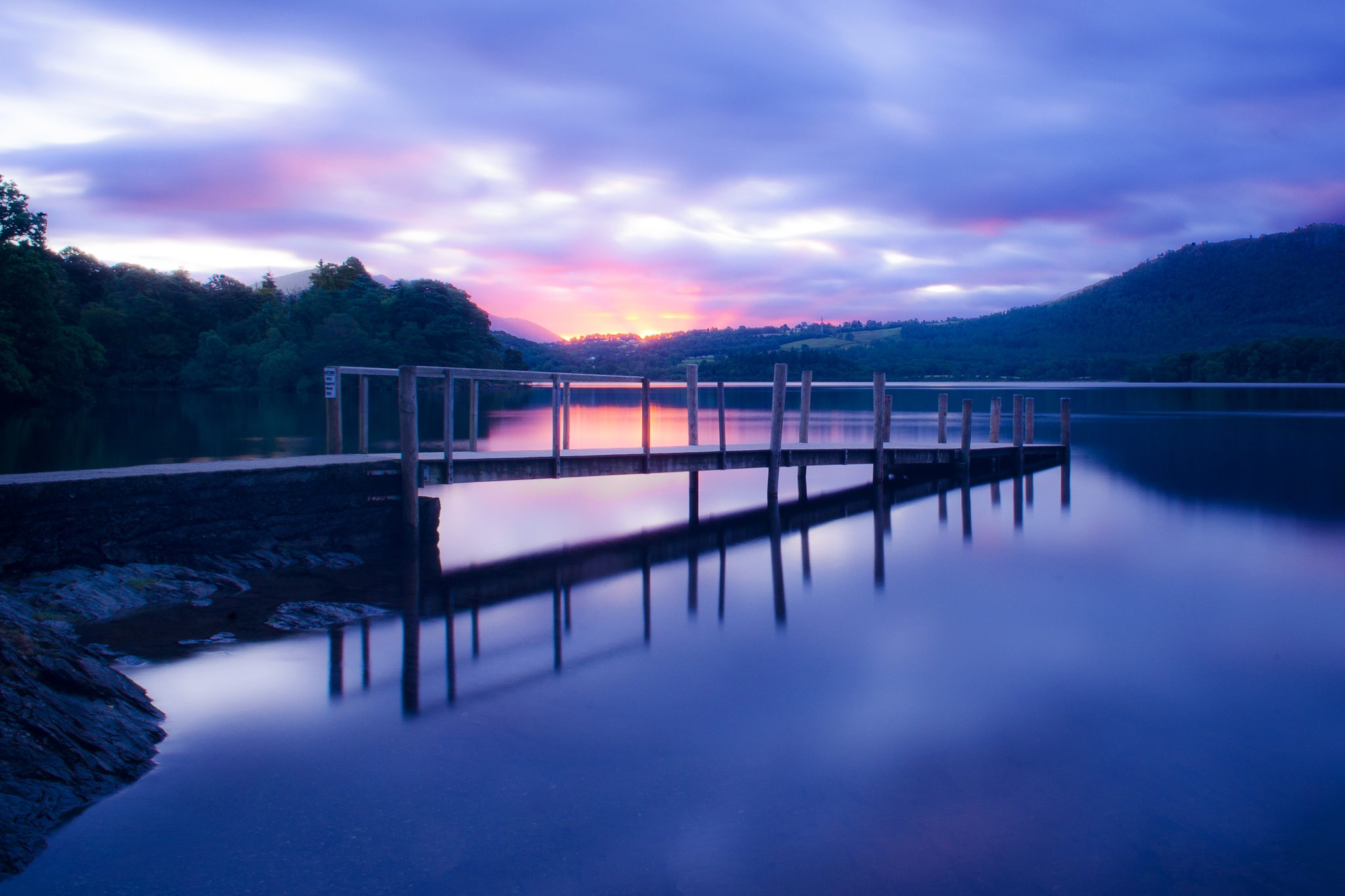 Sunrise over Hawes End landing stage by Simon Lea