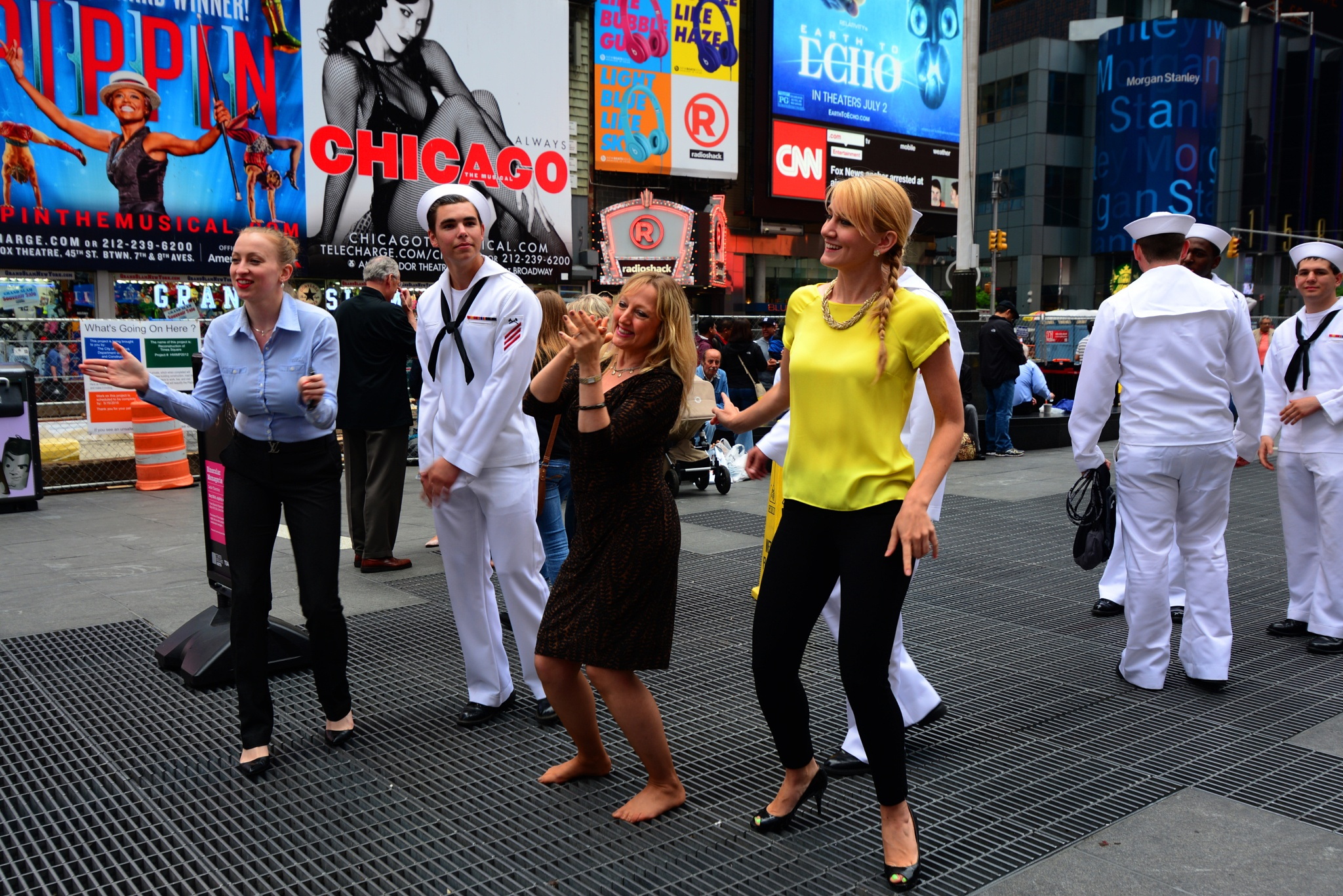 Dance, Dance at Times Square NYC by Nelson Sibulo