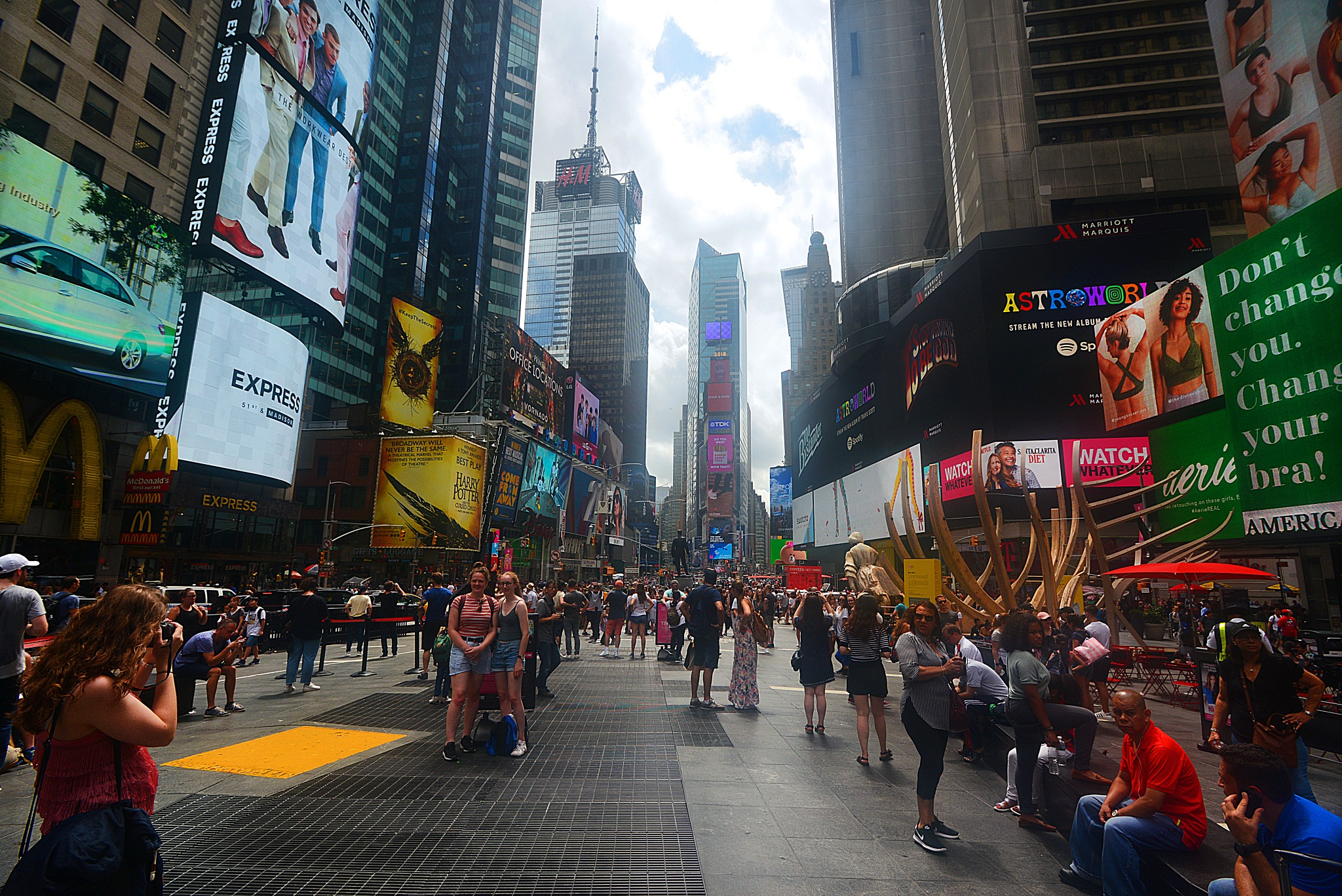 Times Square Manhattan NY by Nelson Sibulo