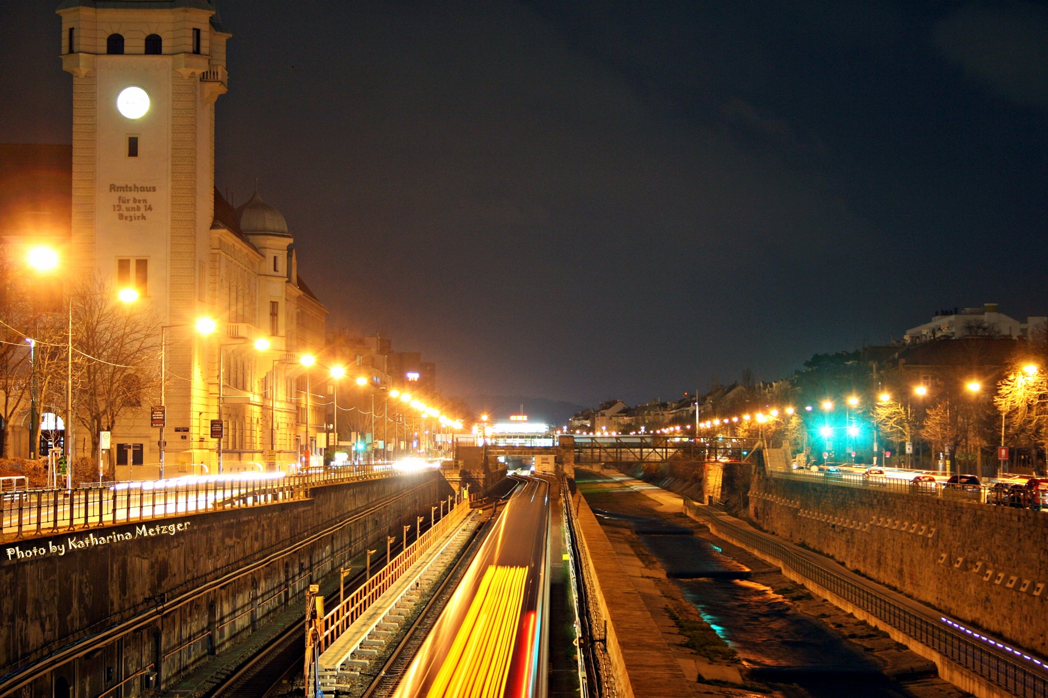 Wienfluss by night by feelyourlife13