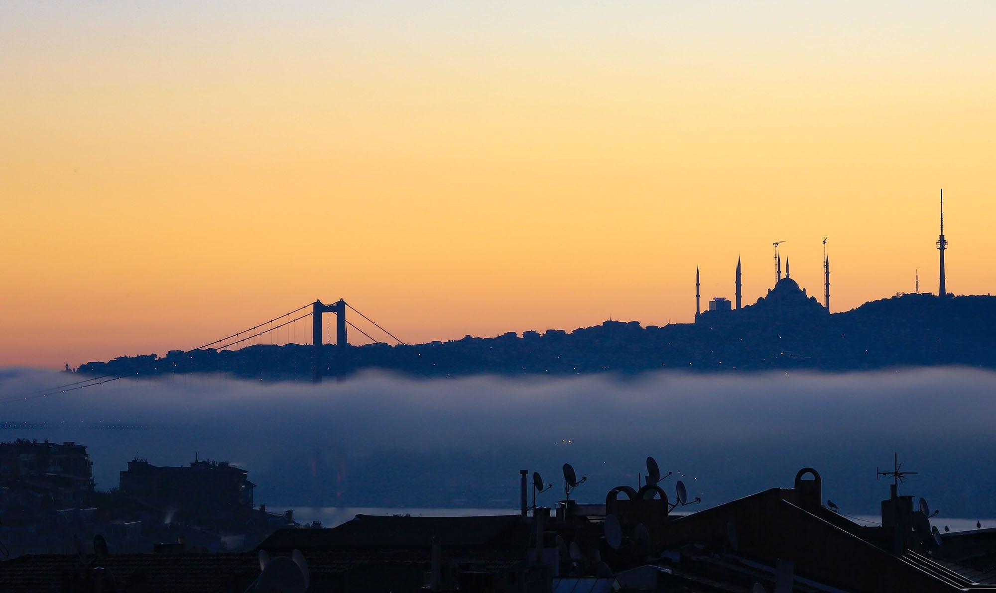 Foggy sunrise by fatih