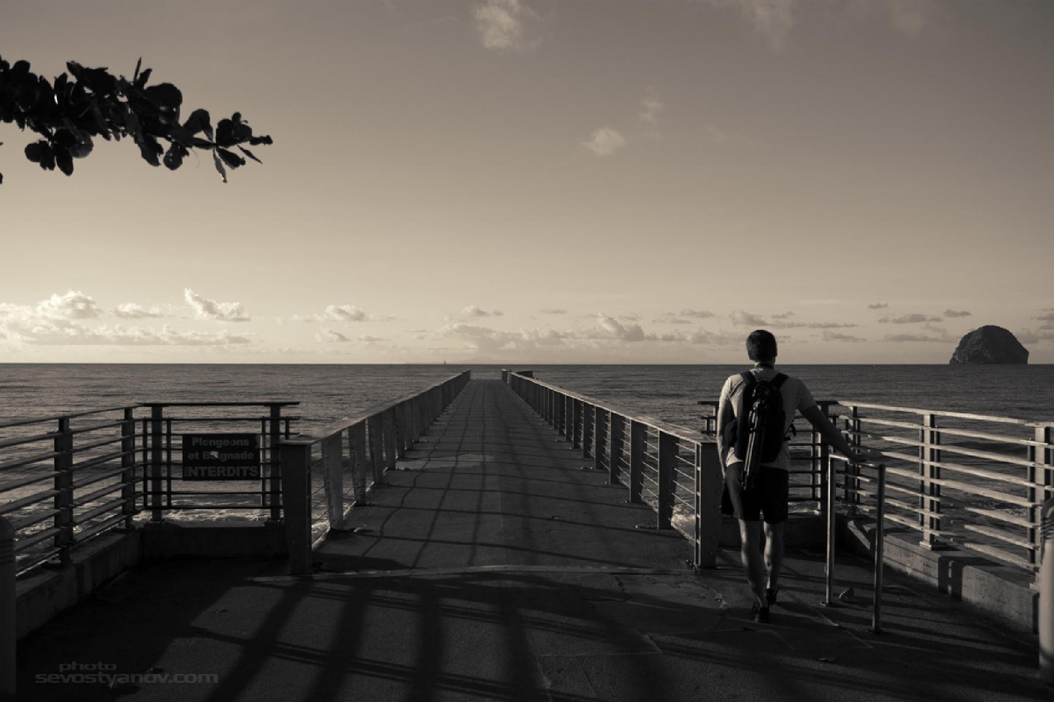 Man On Pier by cinema4design