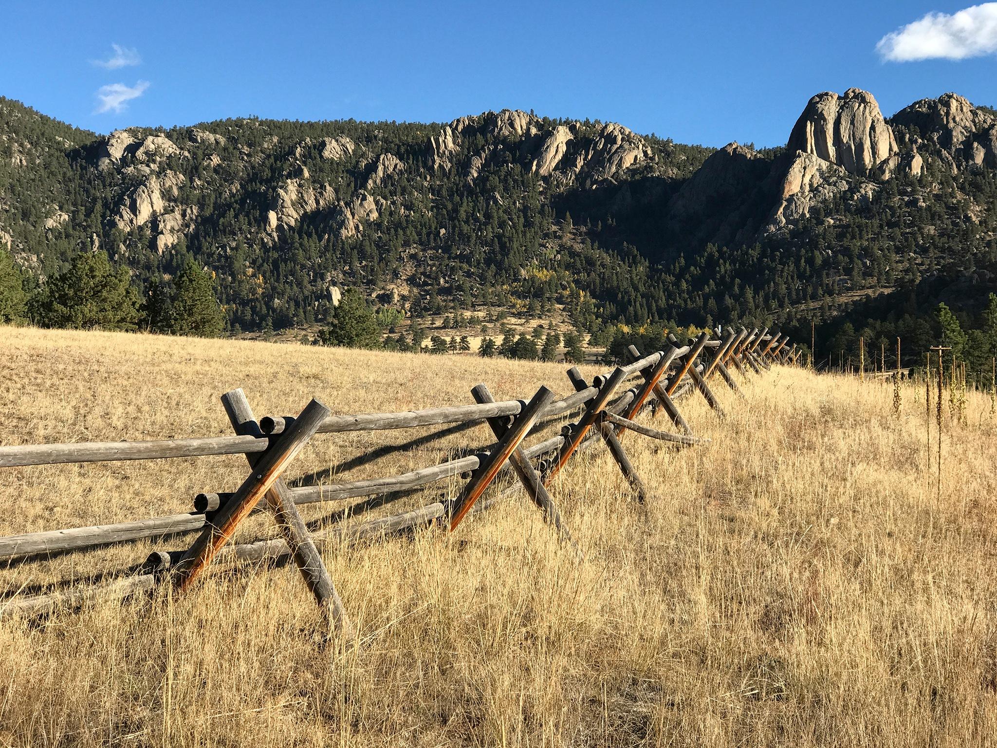 Rustic, Buck Rail Fence by Richard Hahn