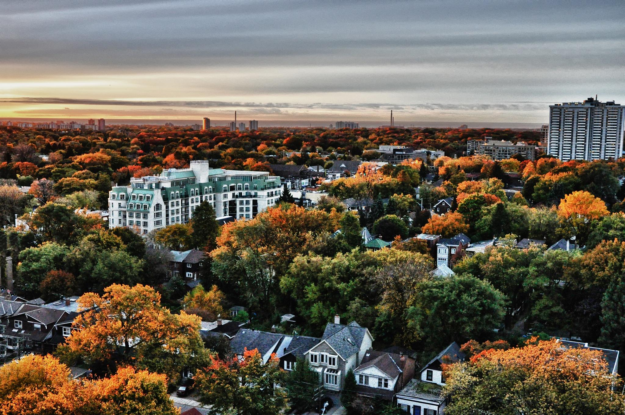 Fall Sunset by Fotoguy