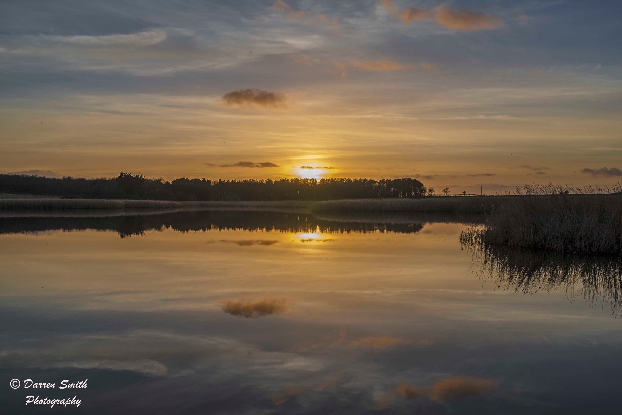 Photo in Landscape #sunset #sky #sun #broads #water #landscape #seascape #river #beach #reflections #mirror #suffolk #covehithe #still #reads #woodland #clouds
