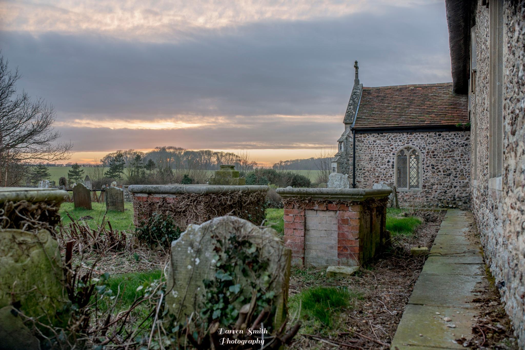 Cemetery Sunset by Darren Smith