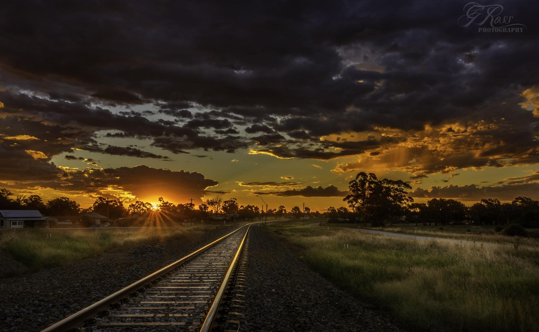 sunset by Glen Ross