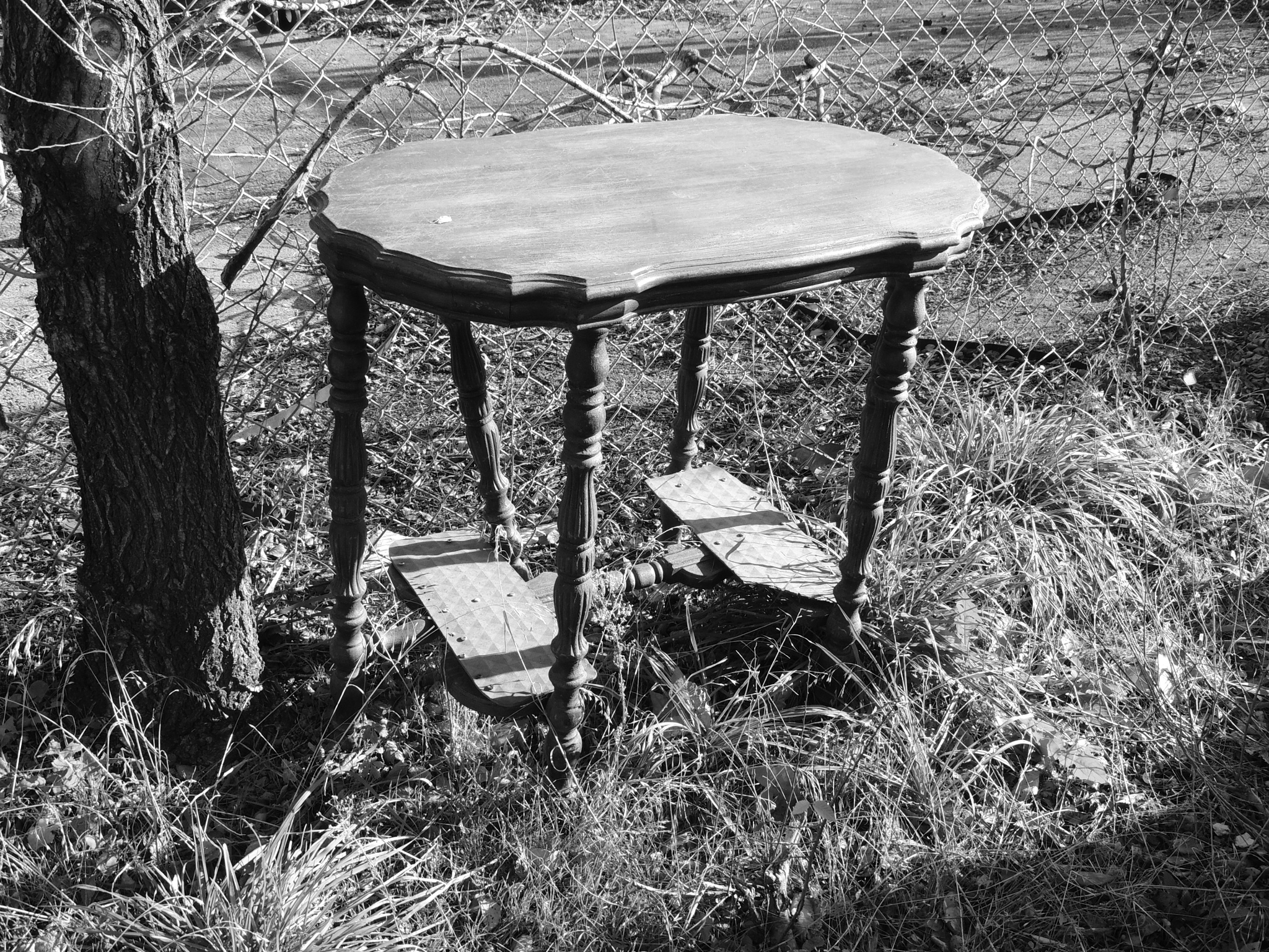 OLD DISCARDED TABLE..... by M. Wryter