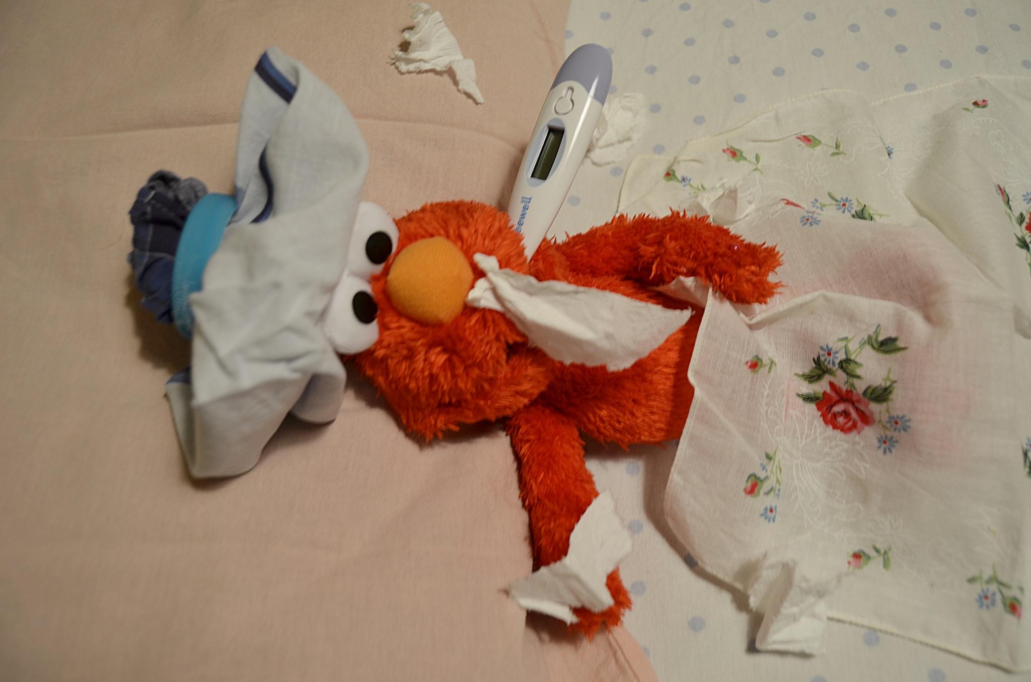 Elmo sick :( by Demet Alper