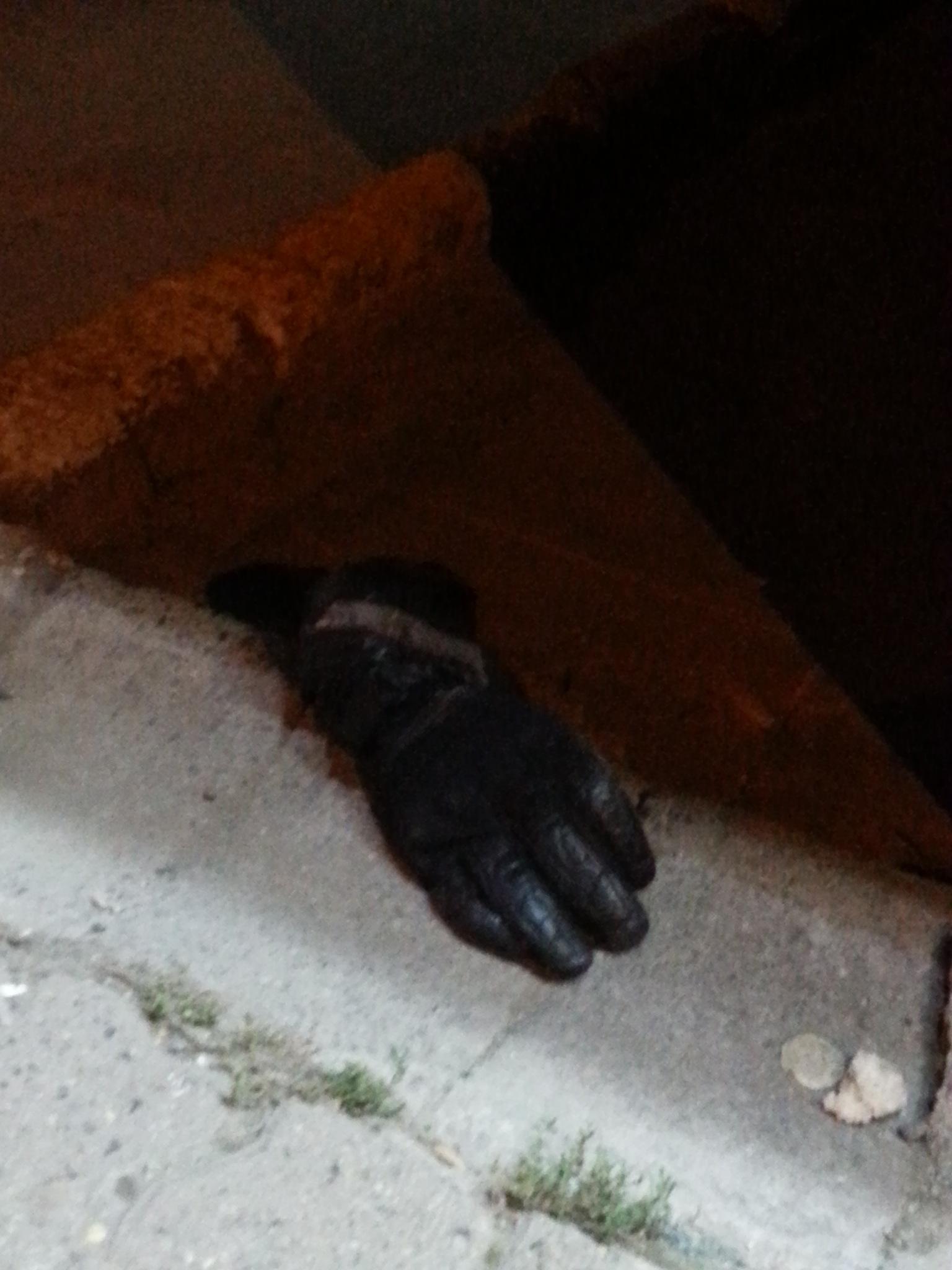I see people with black gloves! by Demet Alper
