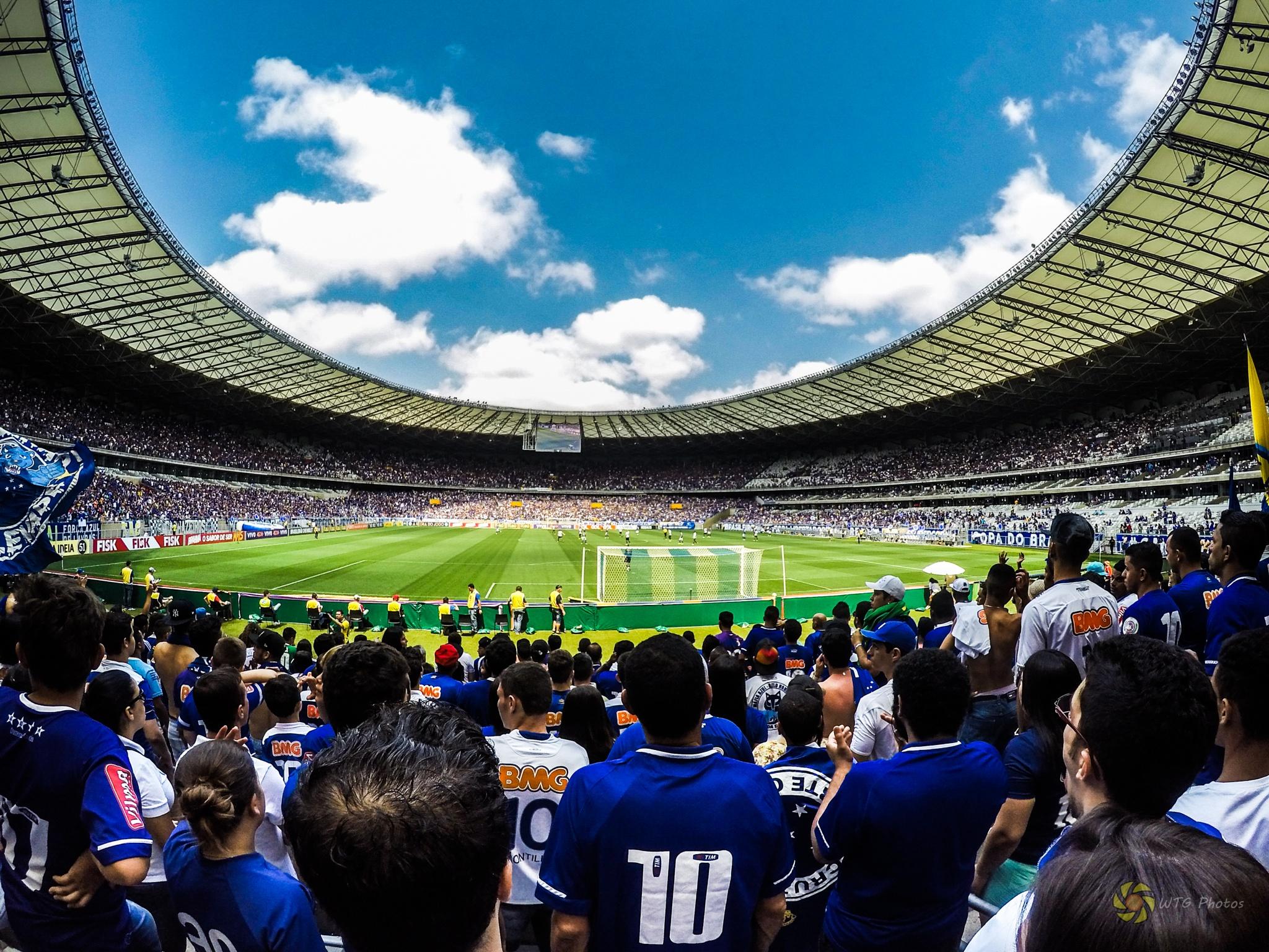 Soccer Match in Mineirão by Weigler Godoy