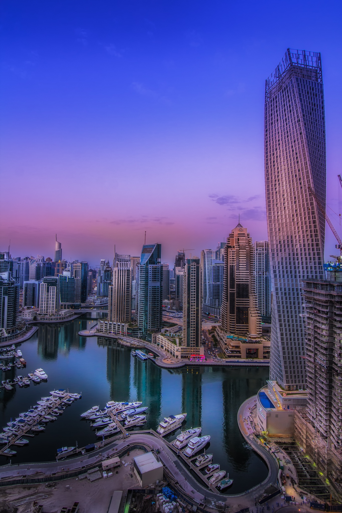 Another view looking down Dubai Marina by Damon