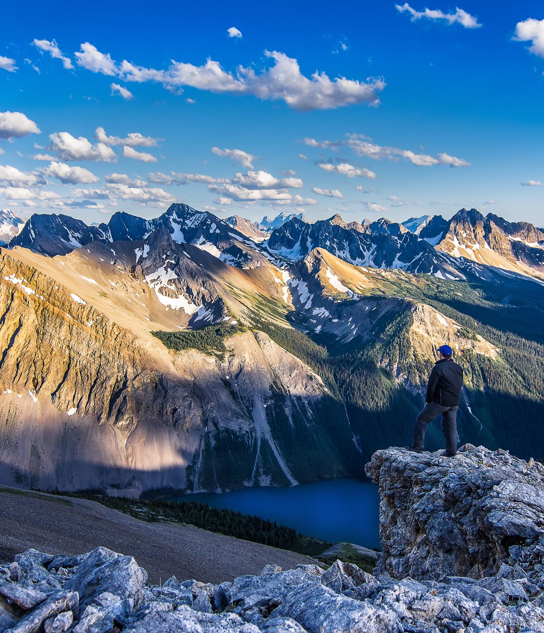 Near Wonder Peak, Canadian Rockies by Damon