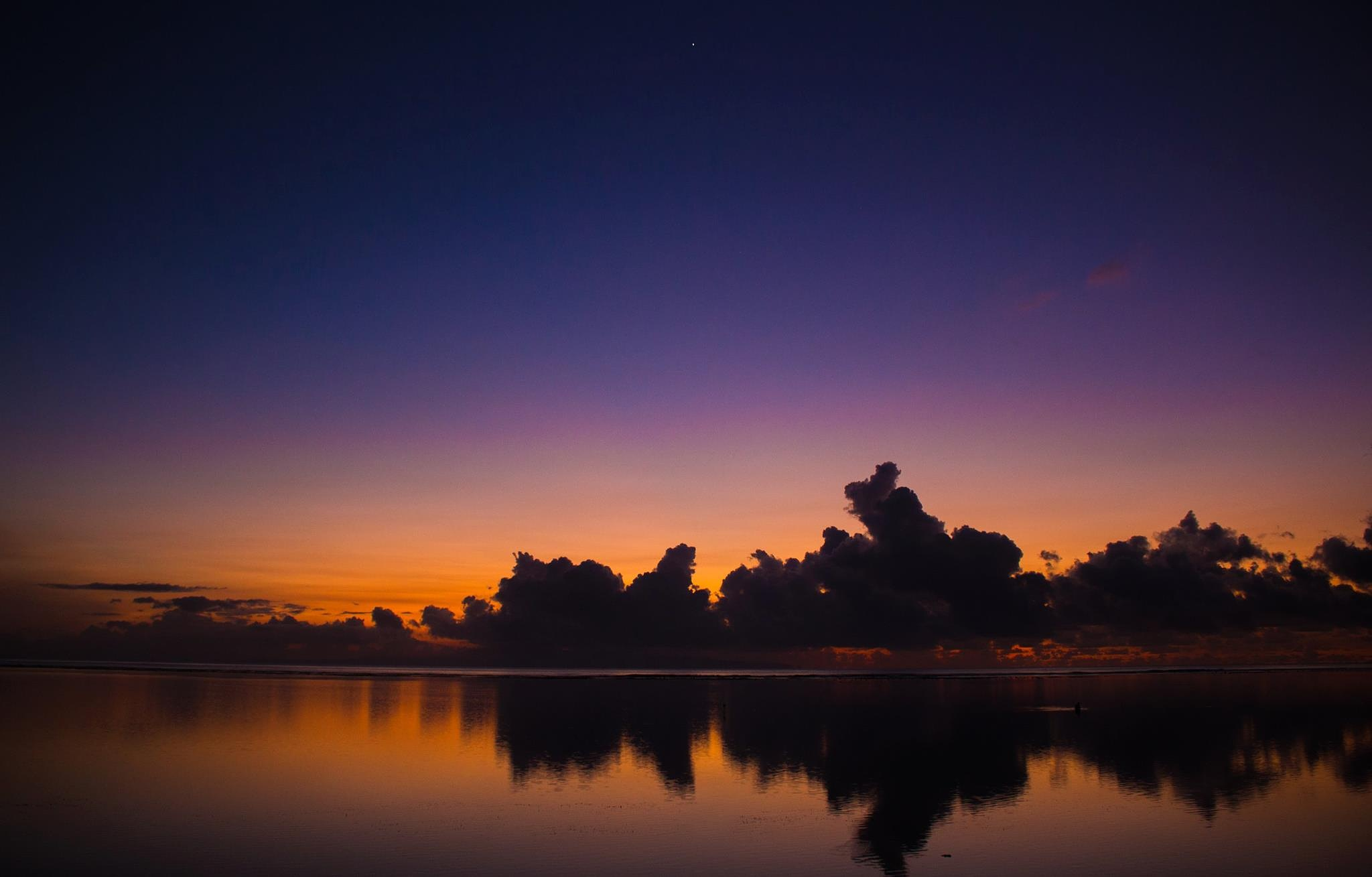 Sunrise at Sanur Beach East side of Bali by marco_carmassi