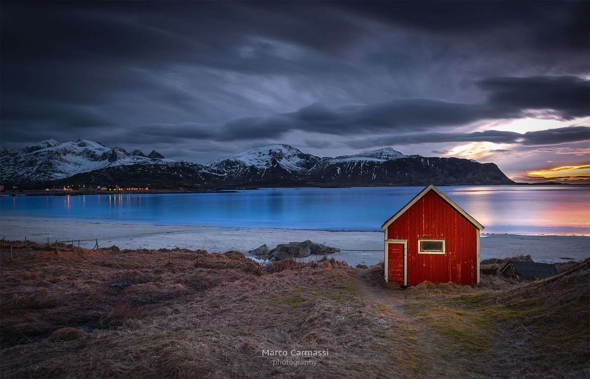 Little Red House on sunset by marco_carmassi