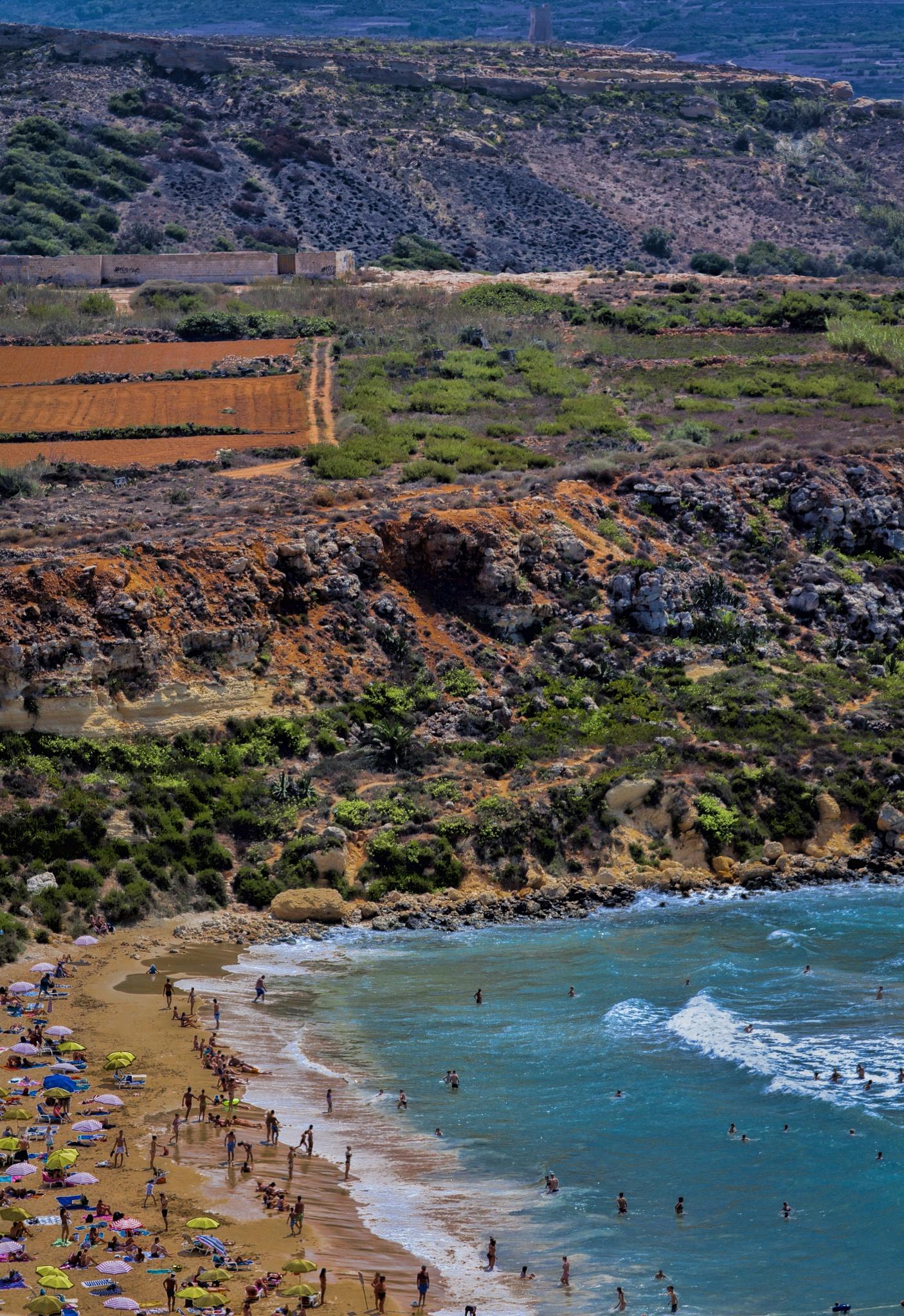 Sandy beach in Malta by Henri Mattocks