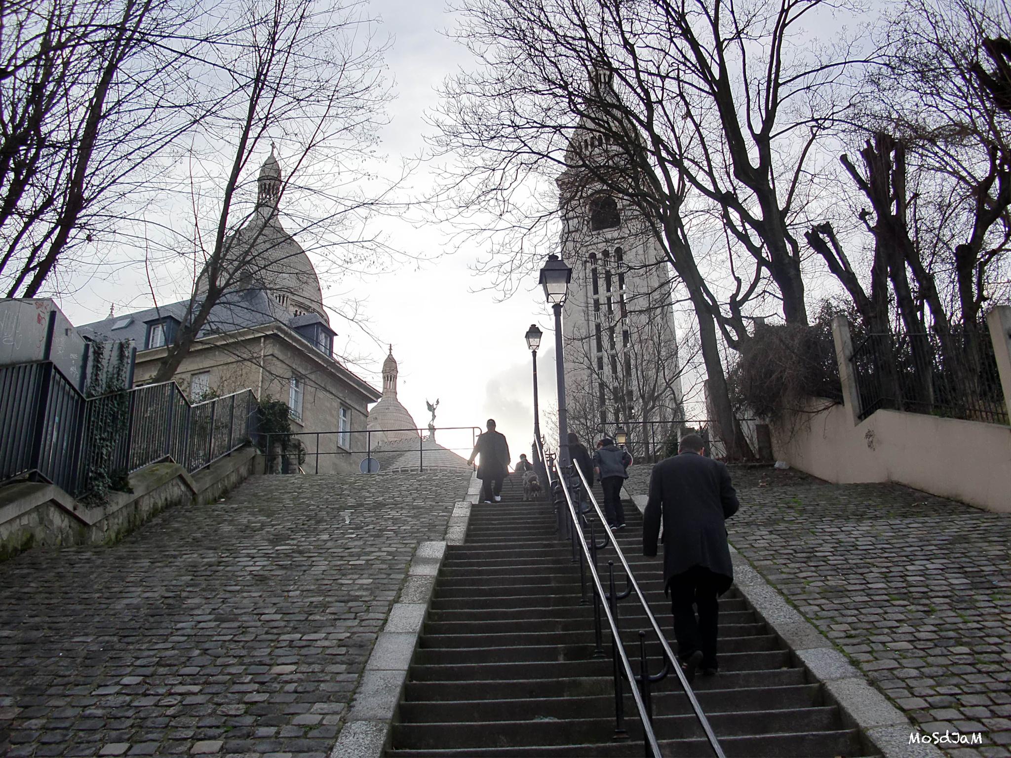 Montmartre stairways, Paris by MosDjam