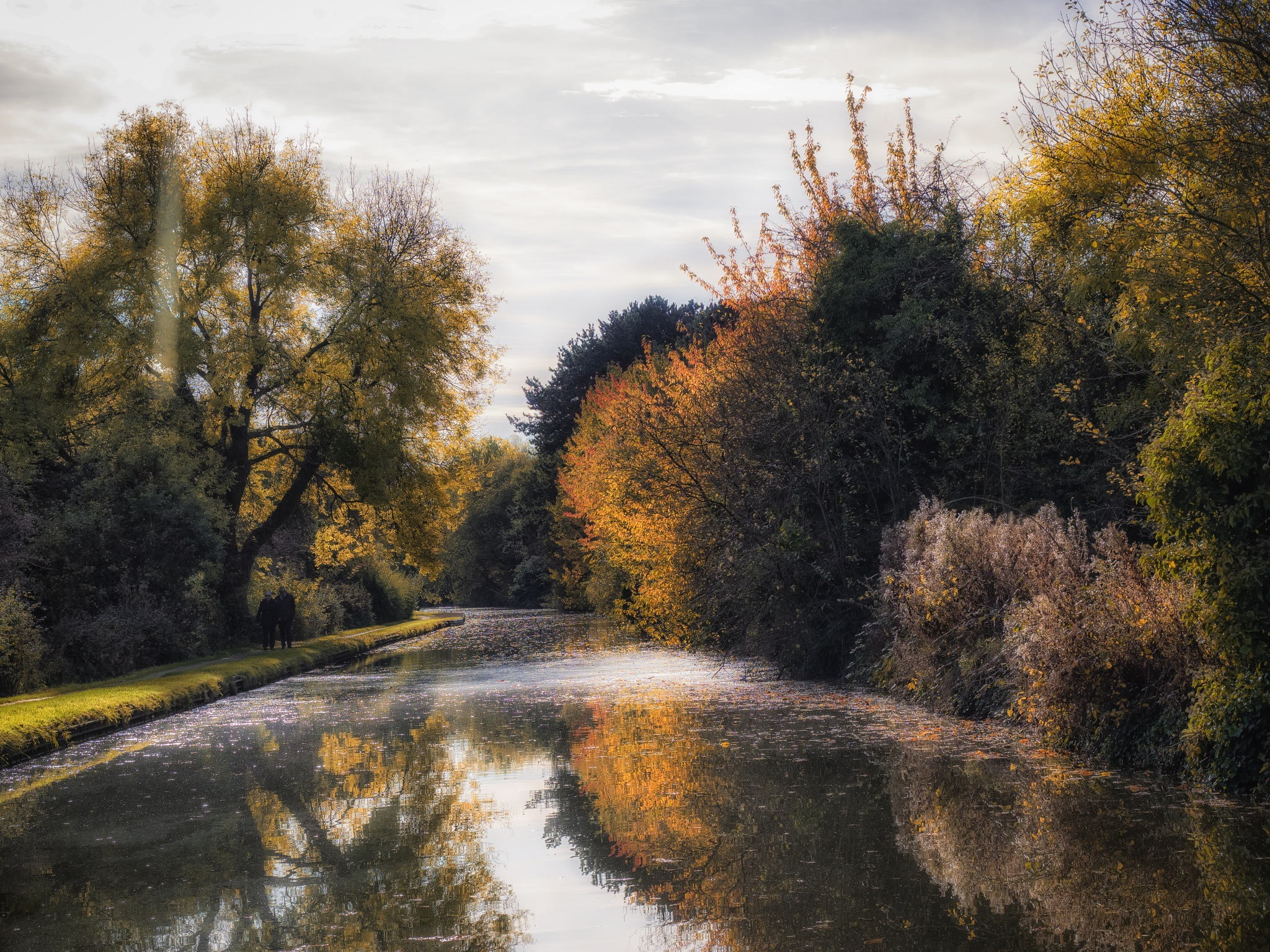Autumn Canal Reflections by Sarah Walters
