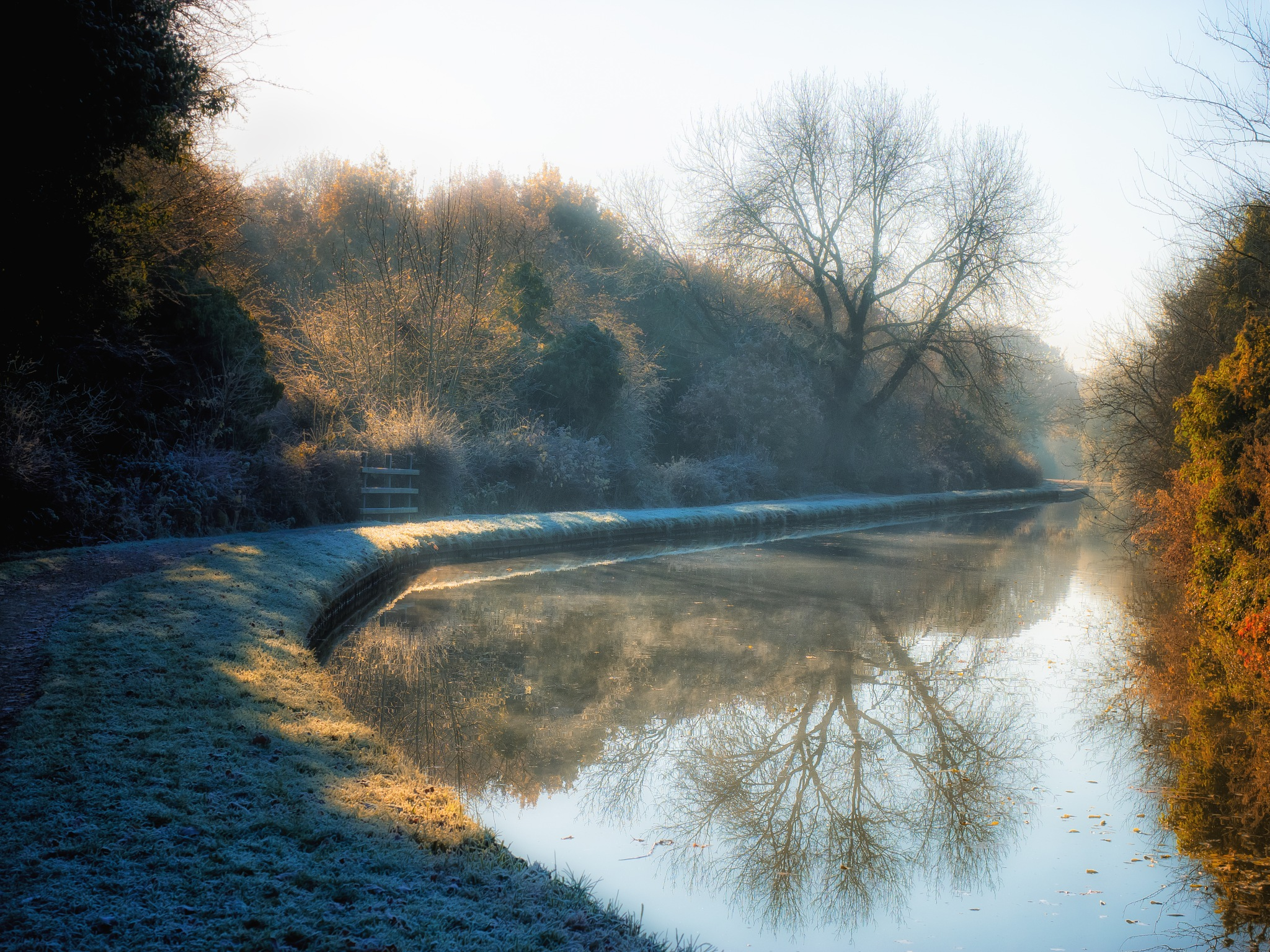 Frosty Morning on Canal by Sarah Walters