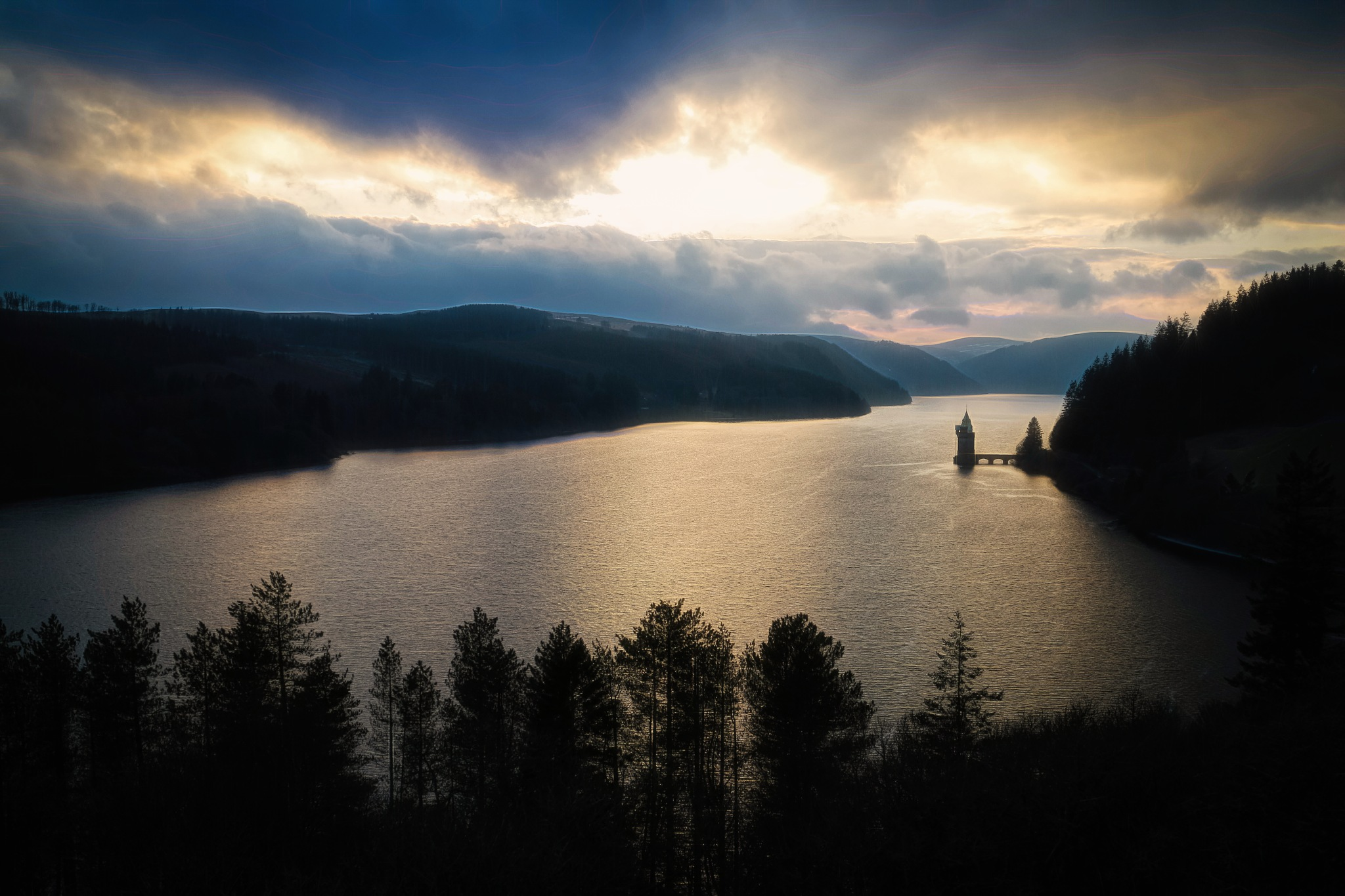 Vyrnwy Sunset by Sarah Walters