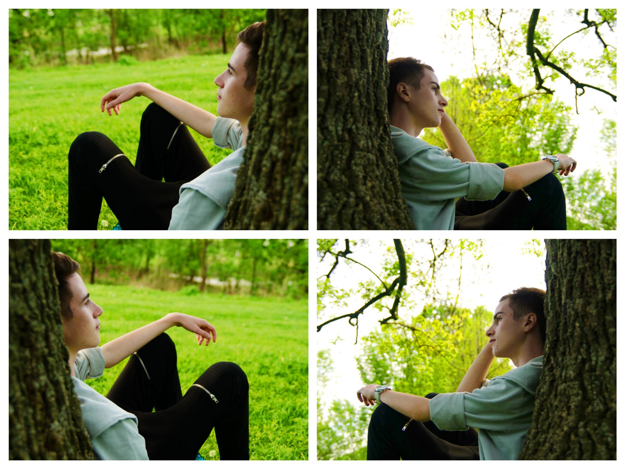 Photo in Portrait #silence #nature #me #young #collage #portrait