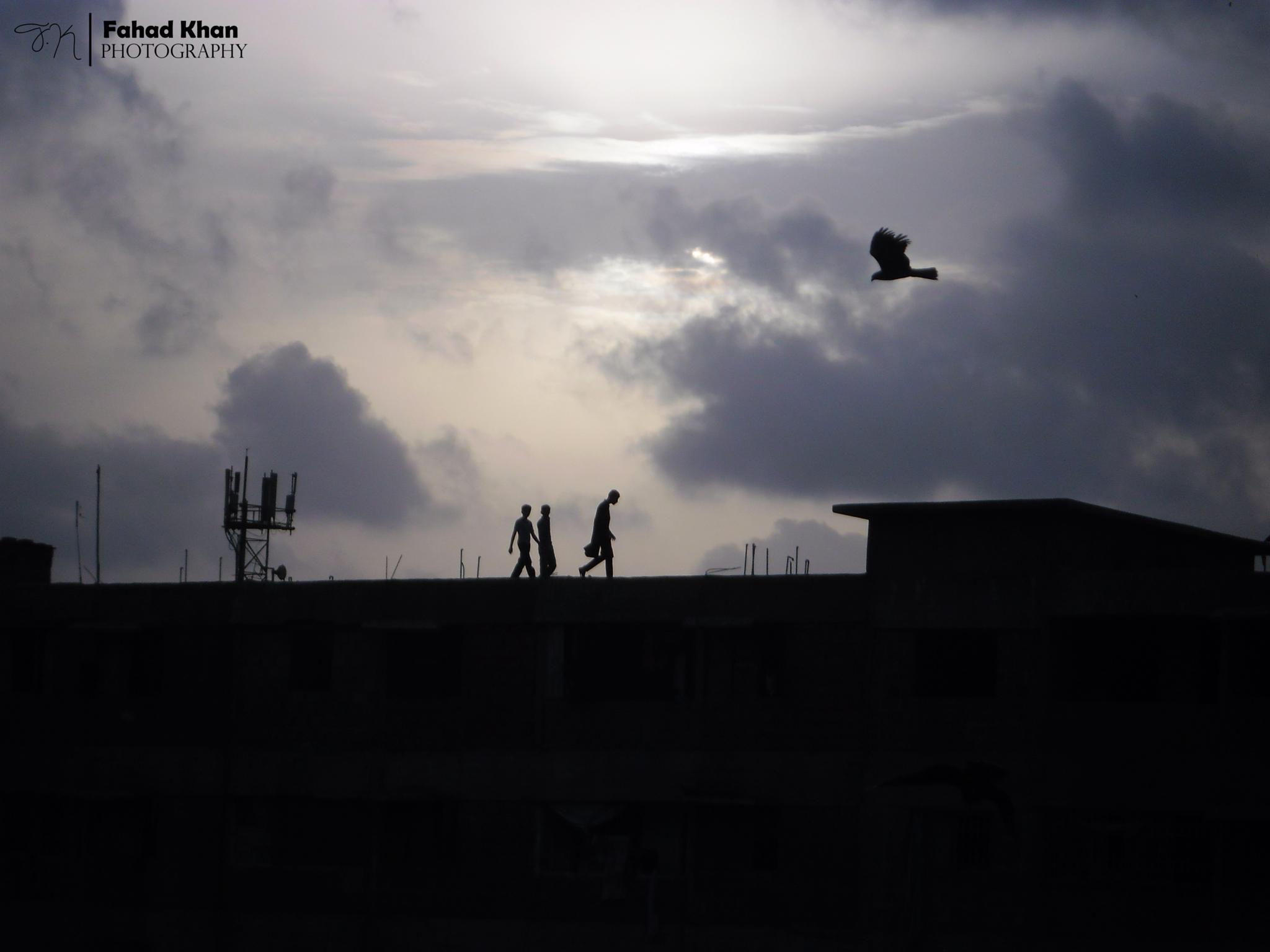 """""""Let's walk on the sky"""" by Fahad Khan"""