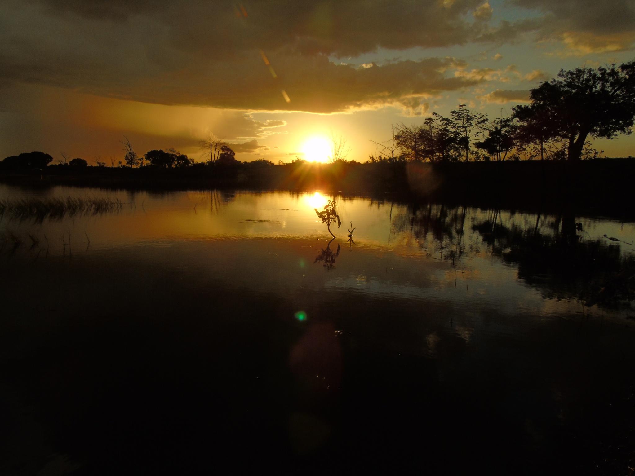 Por-do-sol , refletido !!! by Rose Lopes Weiss
