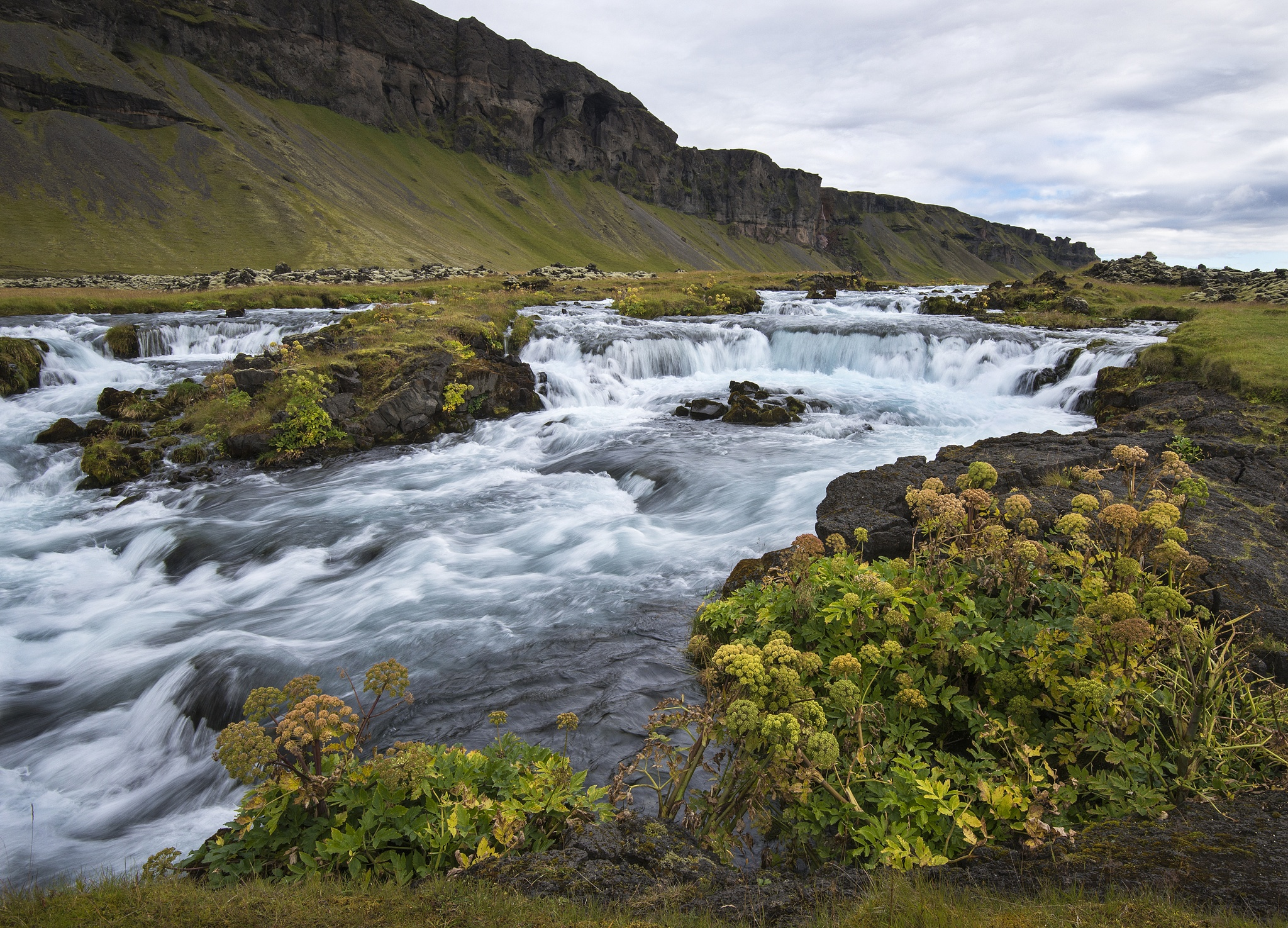 Falls and Cliffs, Near Hofn, Iceland by Doctoral