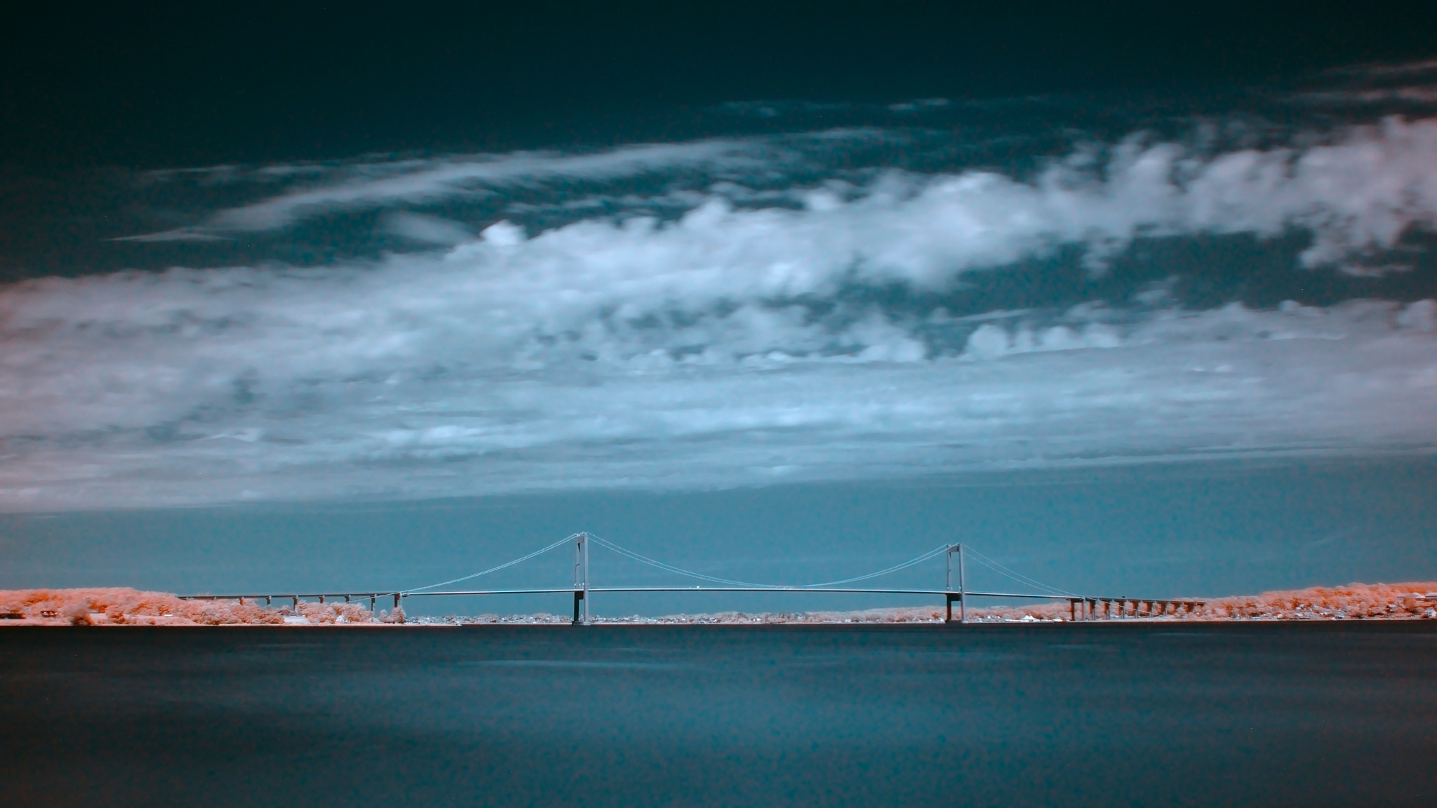 The New Little Belt Bridge in infrared. by Tue Romanow