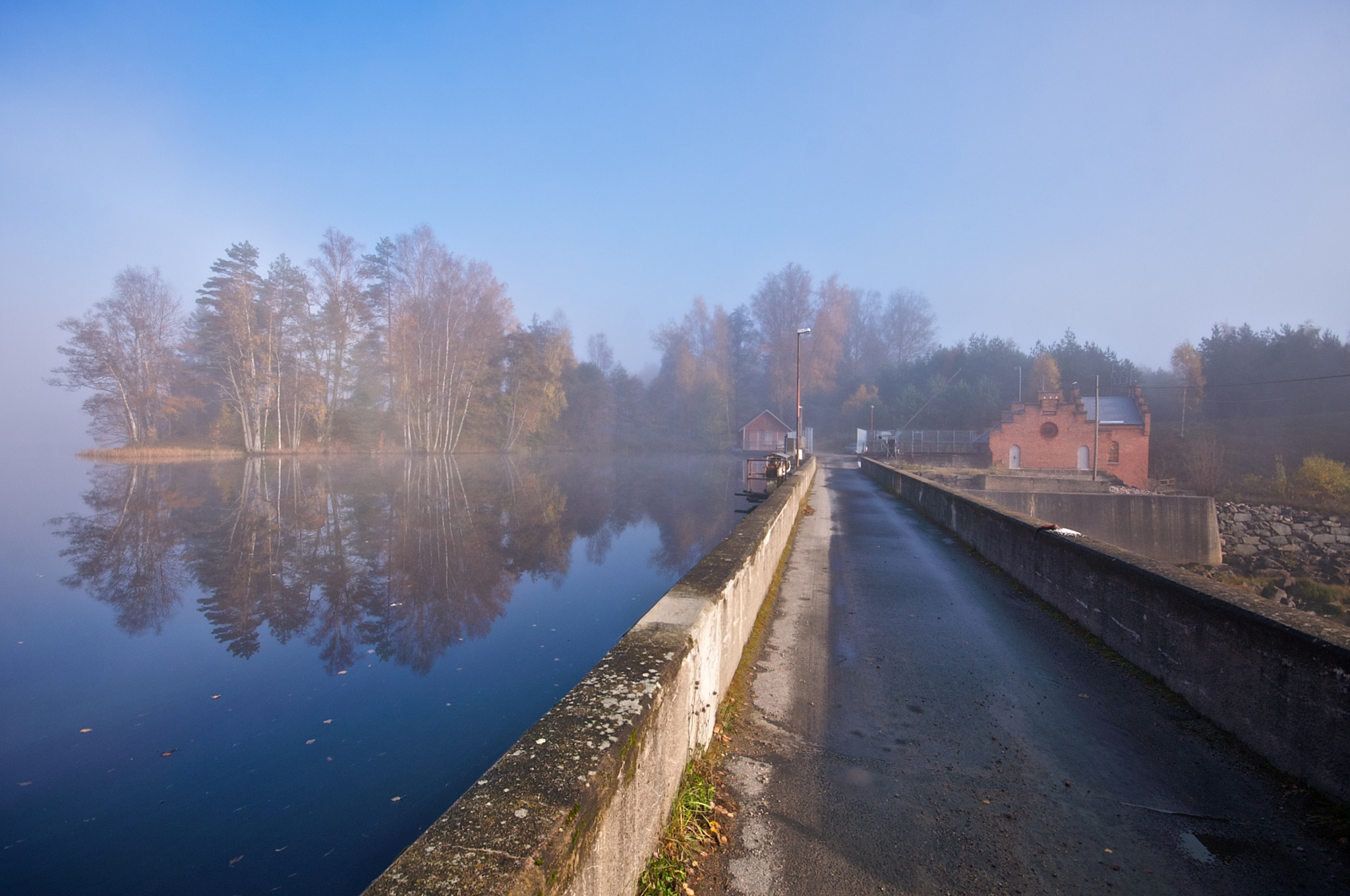 Morning at Hörle Dam. by Tue Romanow