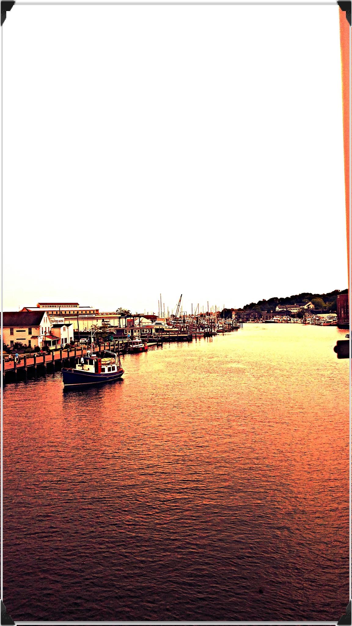 Mystic River Connecticut by Dru Coleman