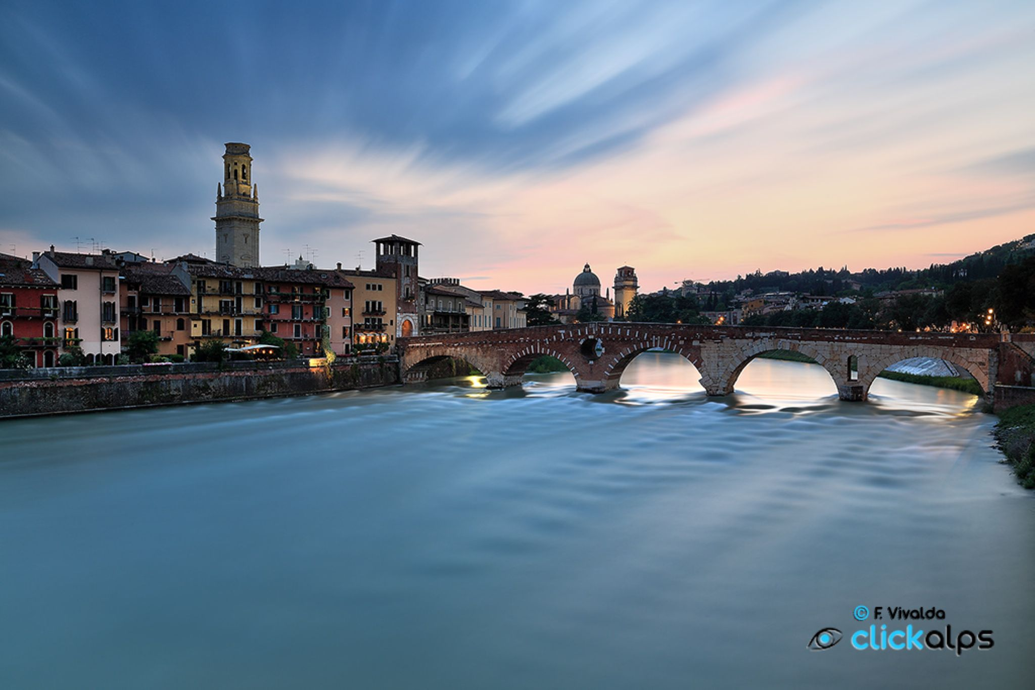 Pietra Bridge, Verona by VivaldaFabio