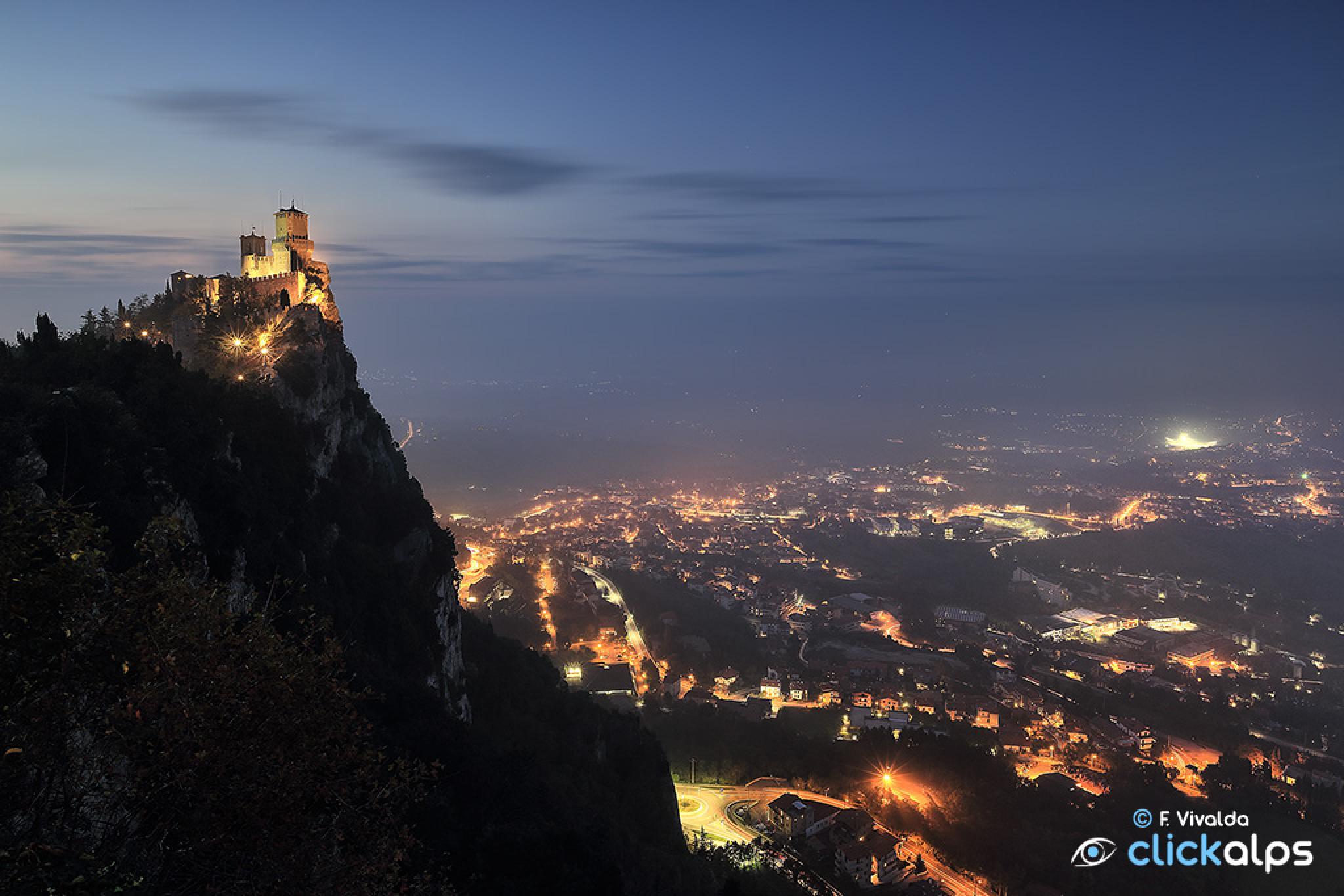 San Marino blue hour by VivaldaFabio