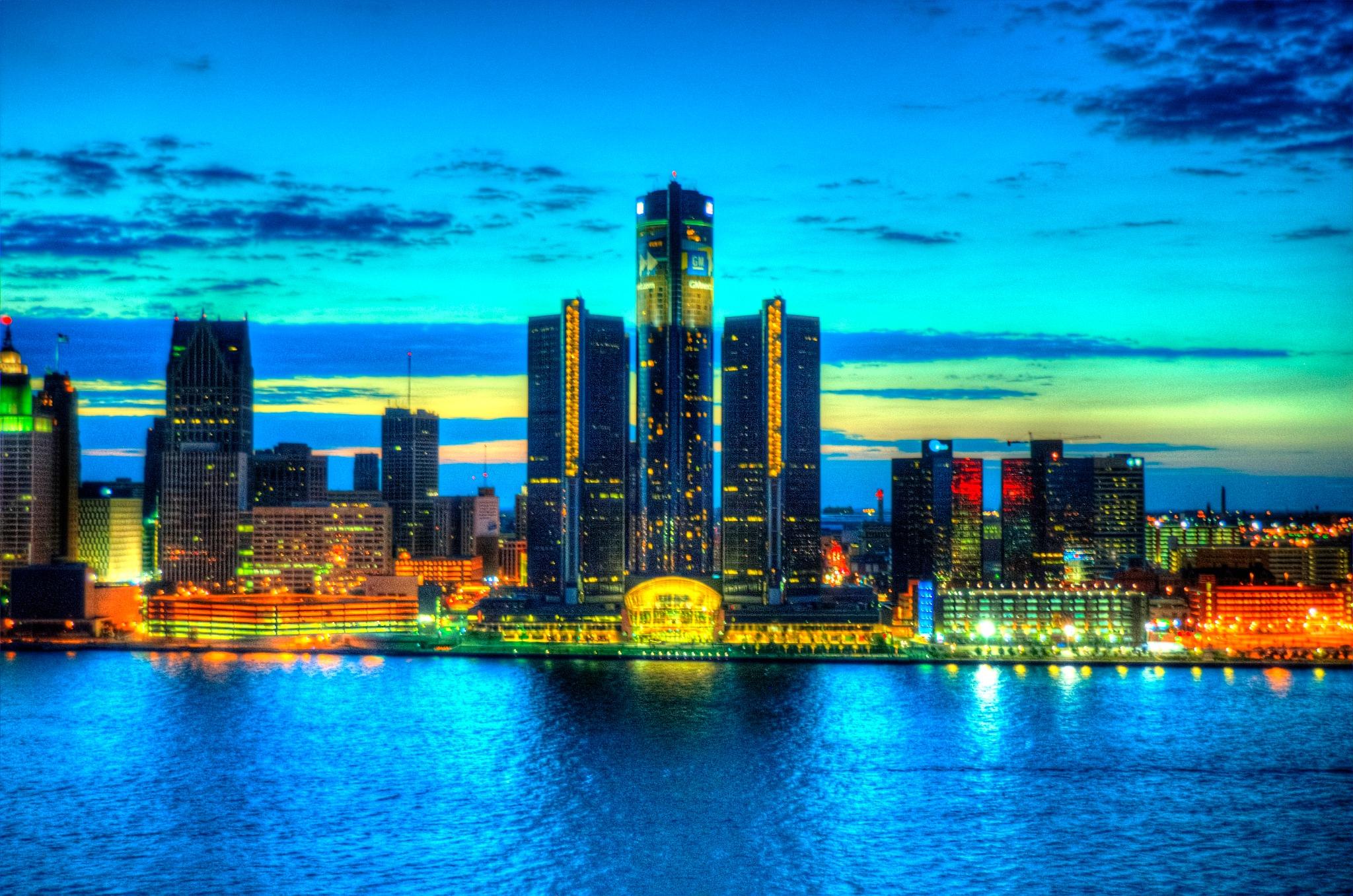 July Evening In Downtown Detroit by Paul Deveau