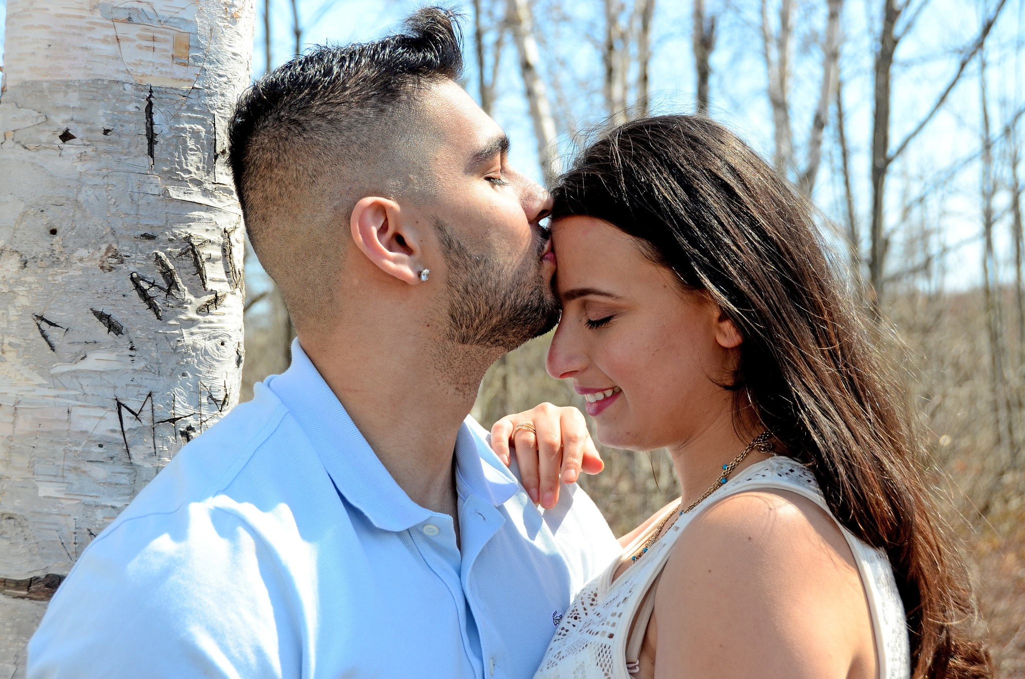 Photo in Portrait #love #couple #engaged #future together