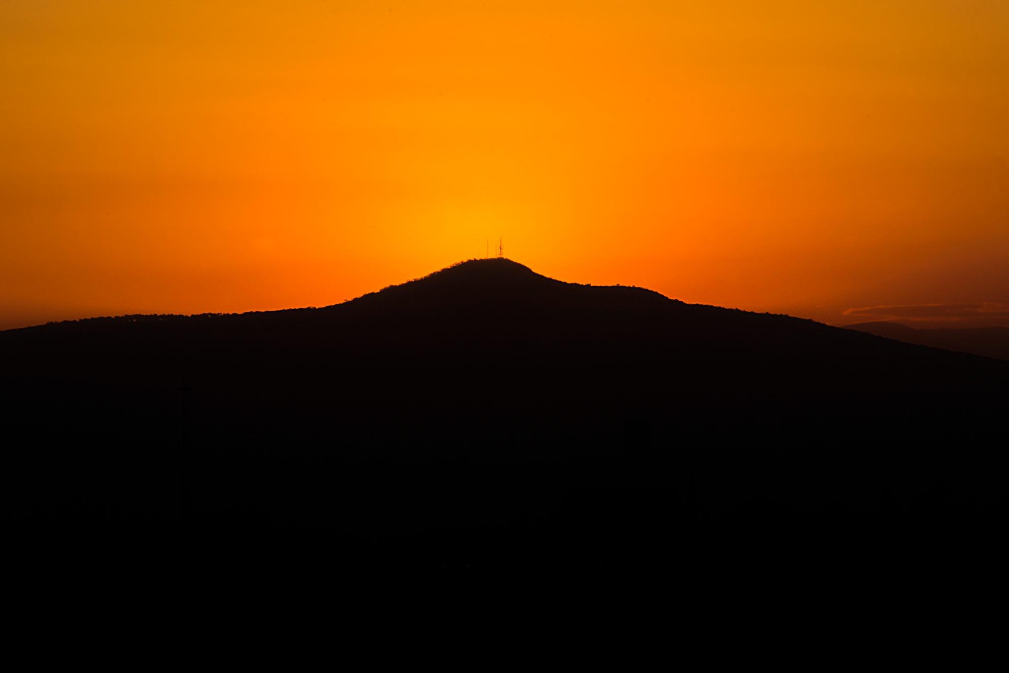 Photo in Random #sunrise #orange #colors #silhouette #guadalajara #méxico