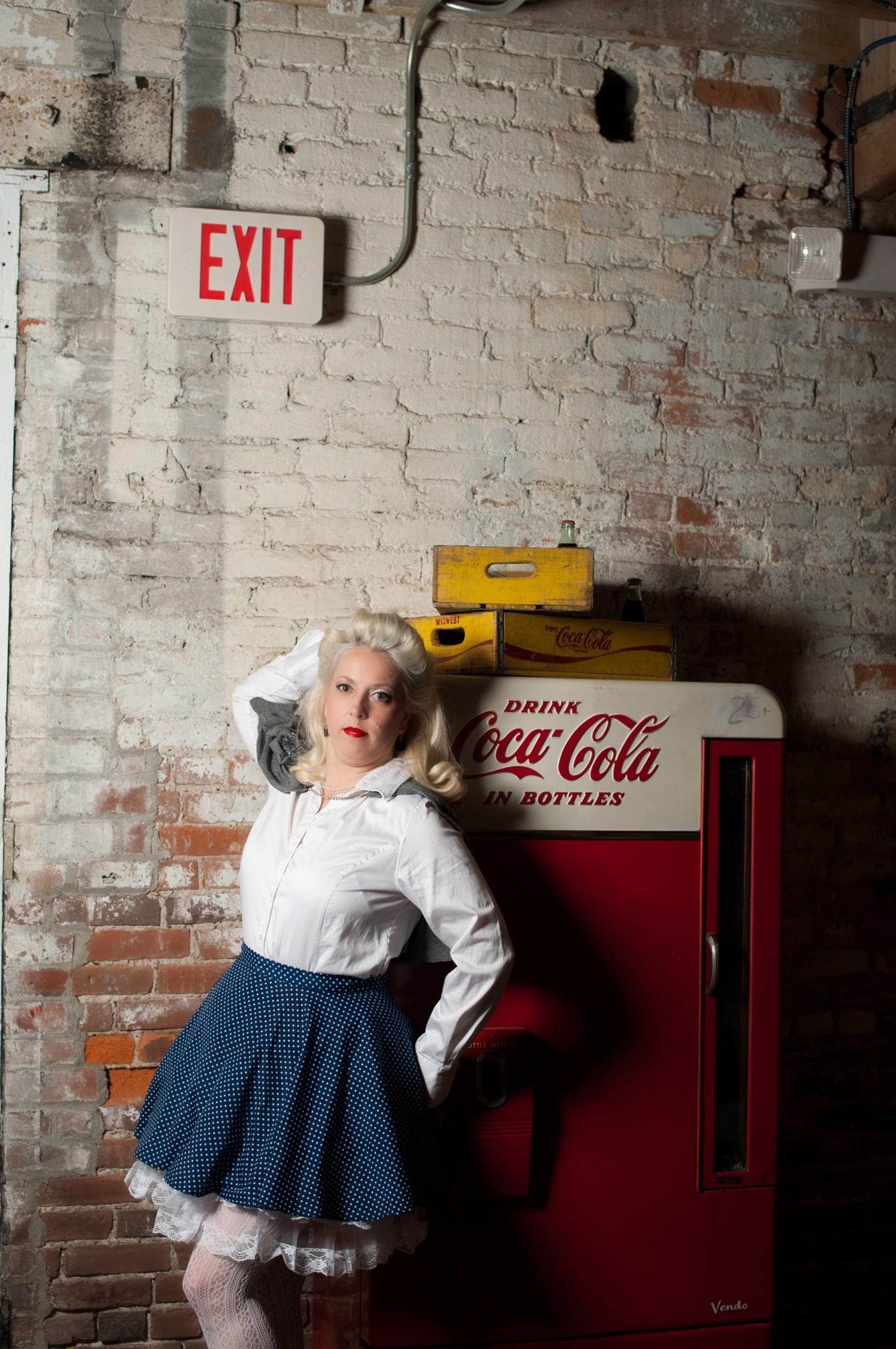 PinUp Pretty Coca-Cola Gal 2 by trishatrixie
