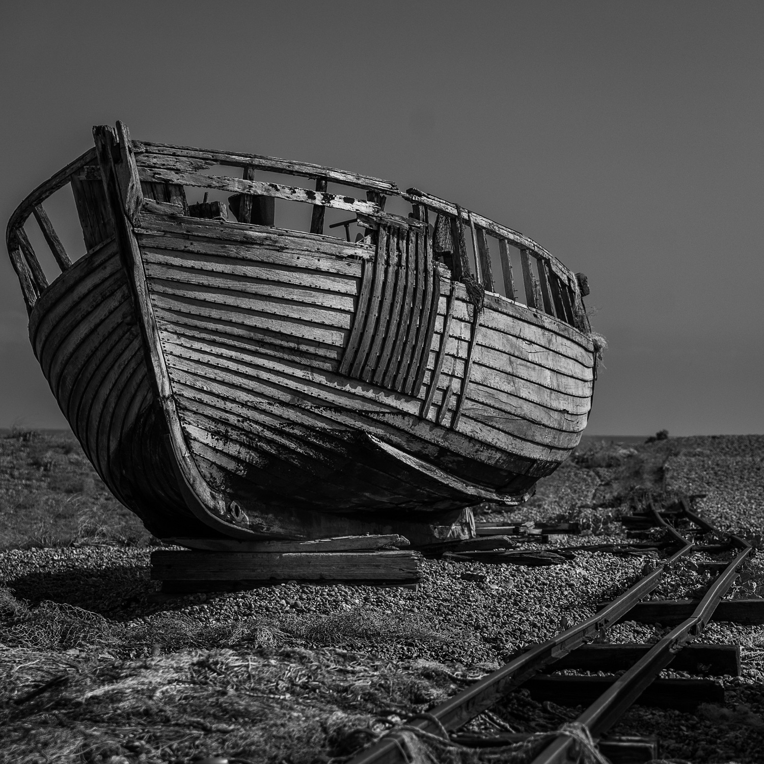 End of the Track for this Fishing Boat by mike hughes
