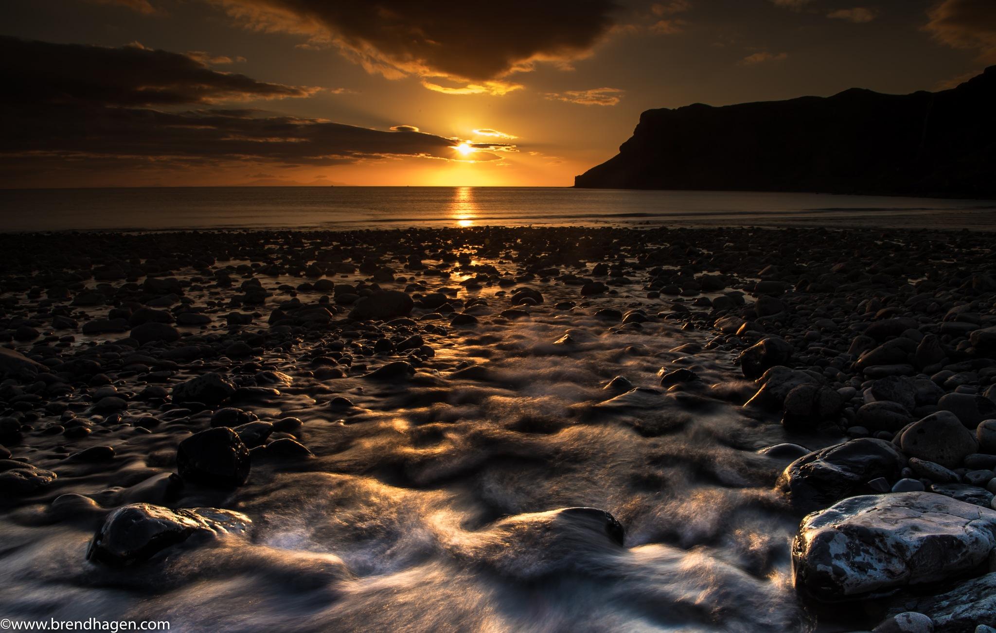 Sunset - Isle of Sky in Scotland by Roger Brendhagen